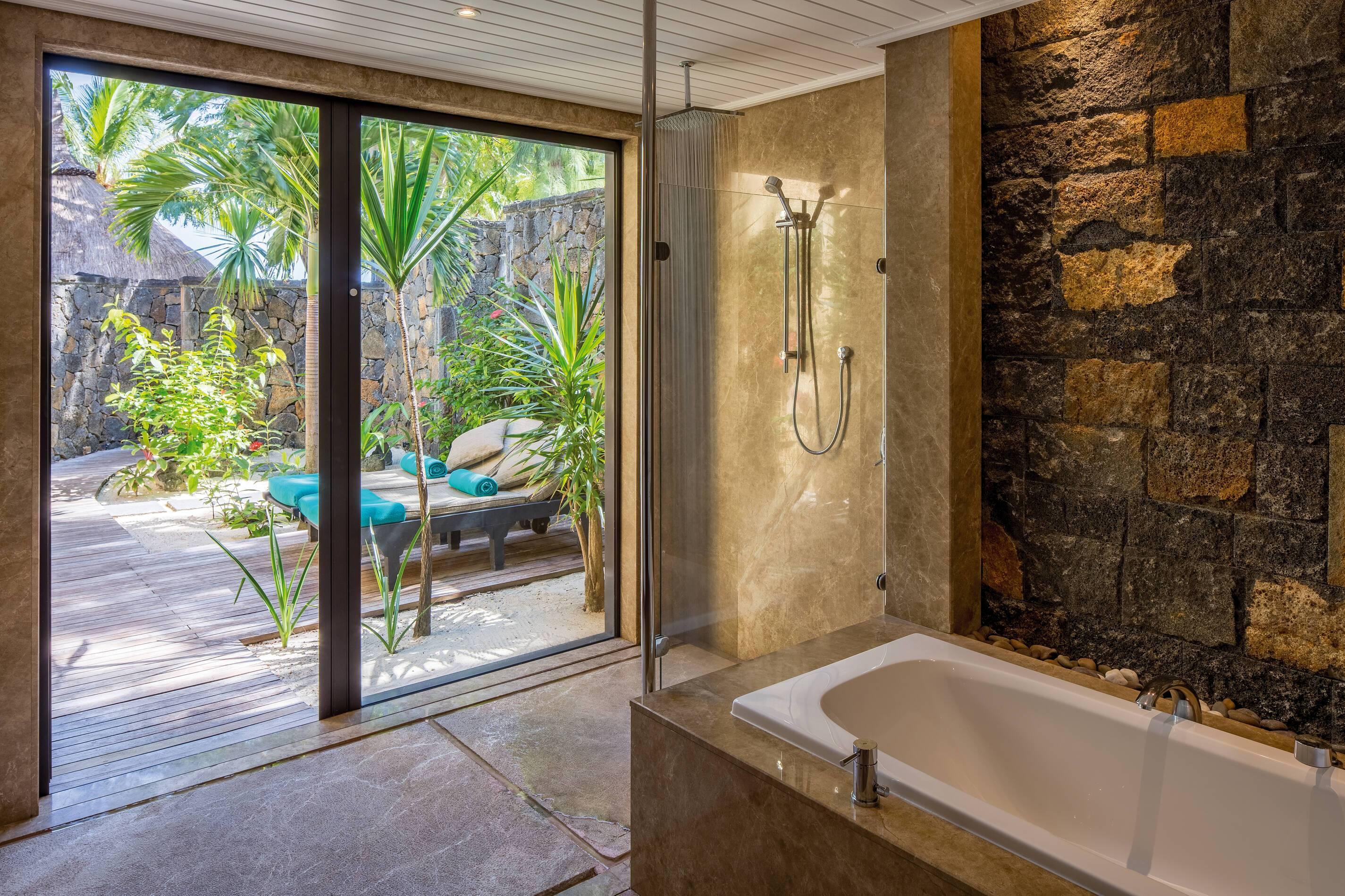 Paradis Beachcomber Presidential Vila Salle de bain Maurice