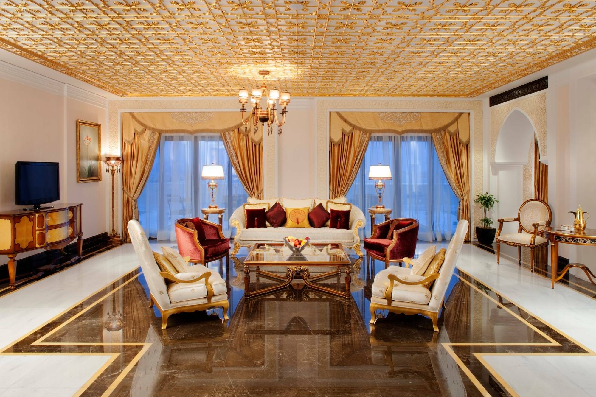Jumeirah Zabeel Saray Grand Imperial Suite Living Dubai