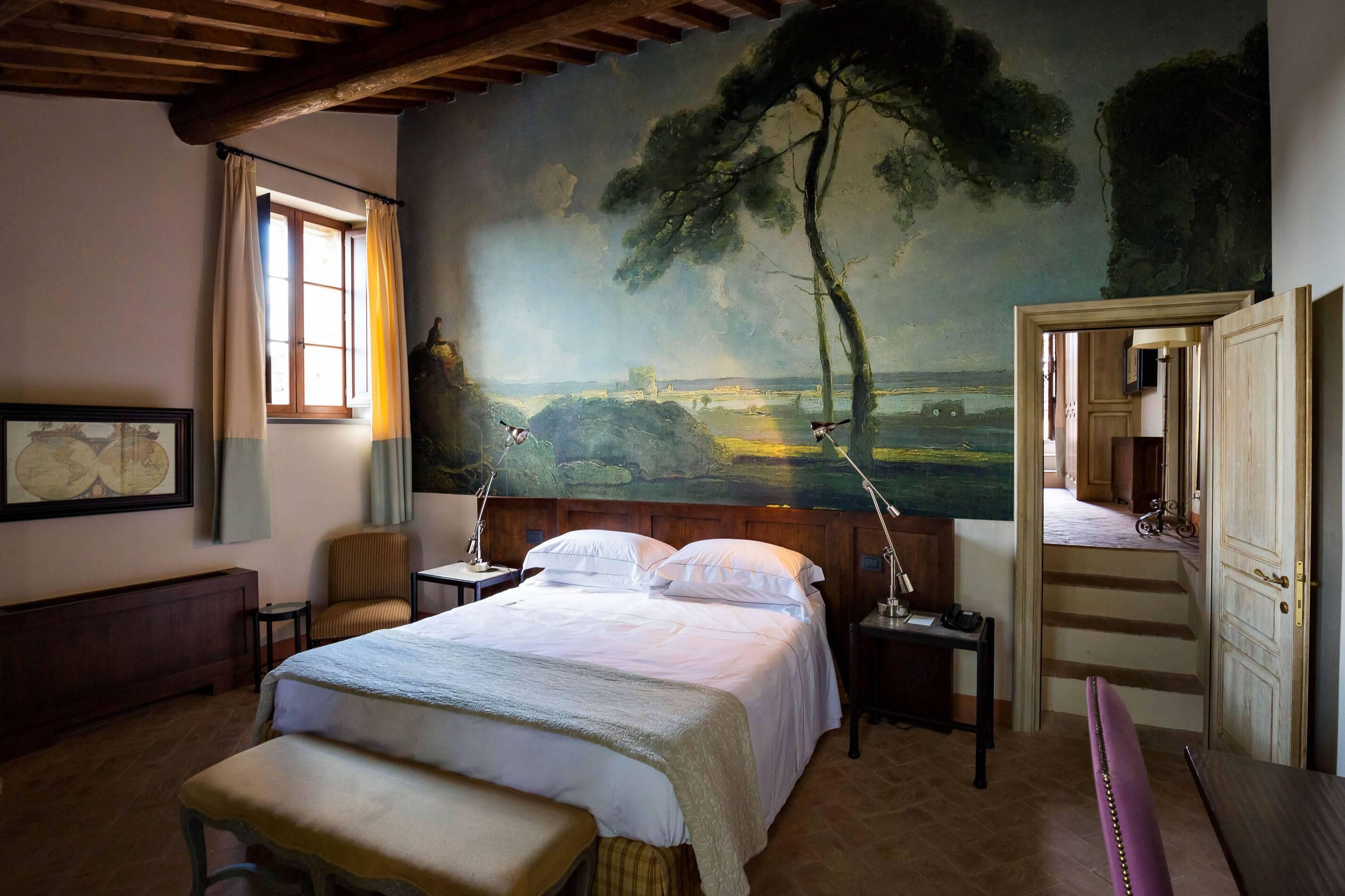 Castel Monastero Chambre Toscane Italie Antinori
