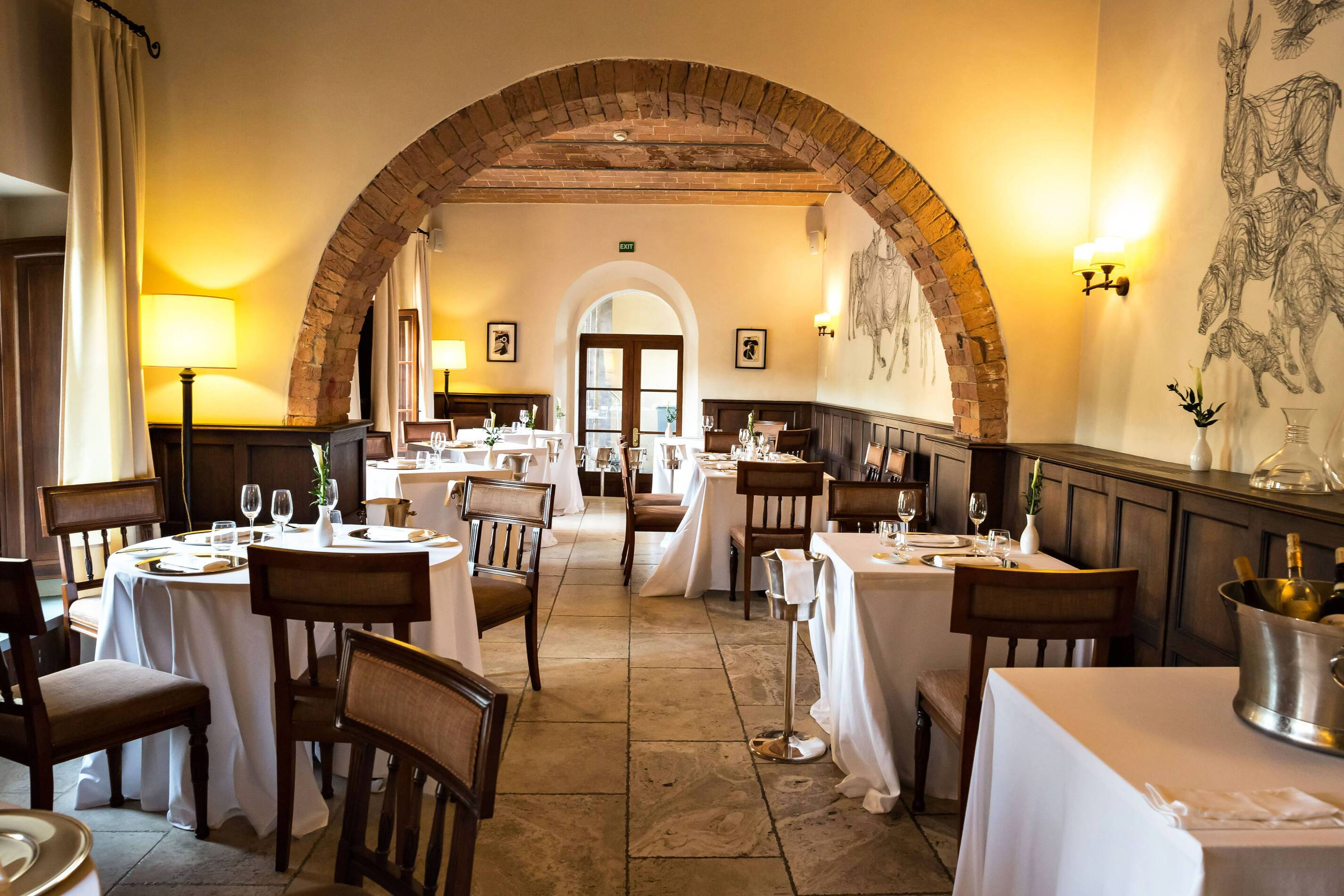 Castel Monastero Restaurant Toscane Italie Antinori