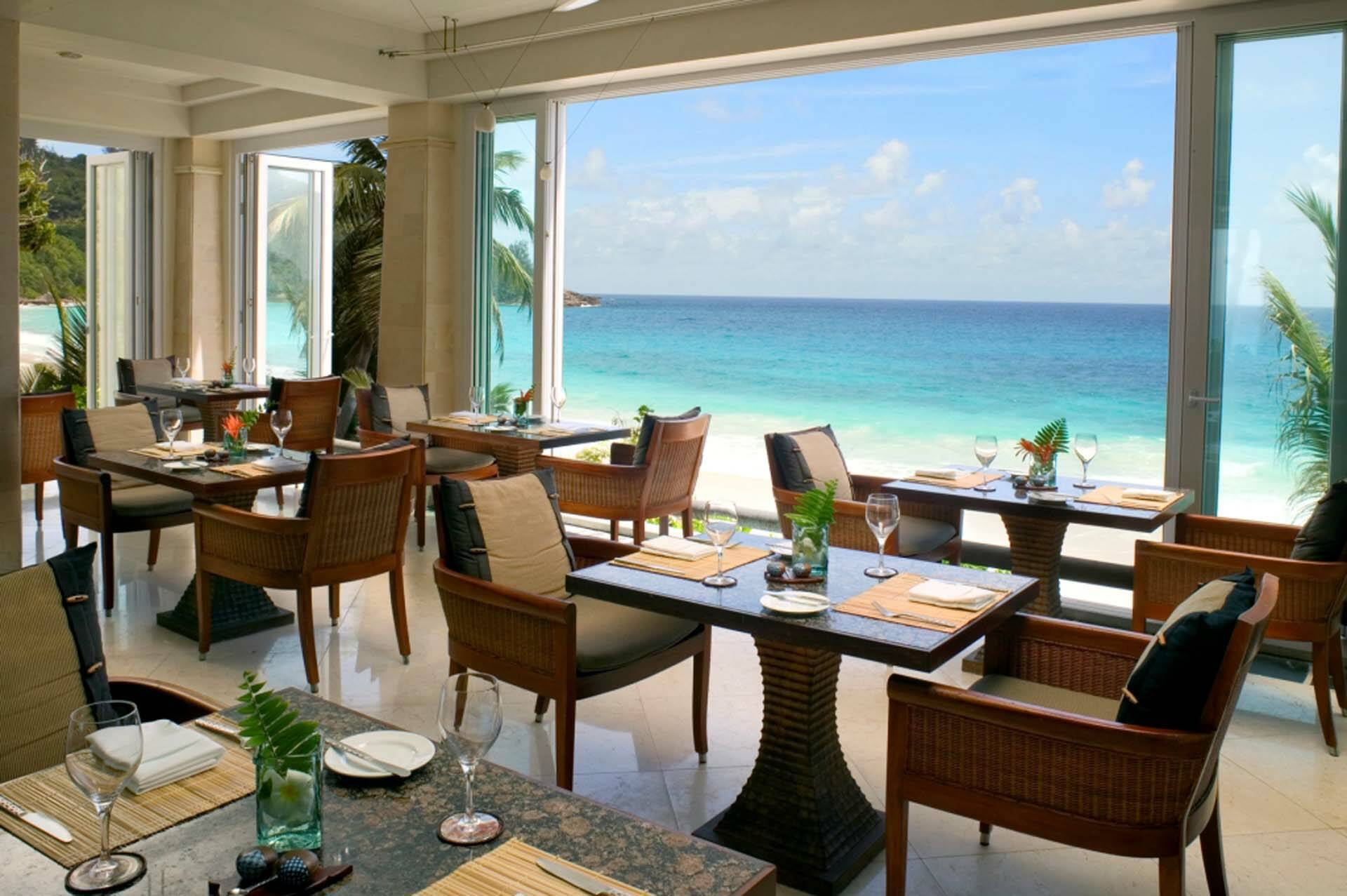 Banyan Tree Seychelles view restaurant