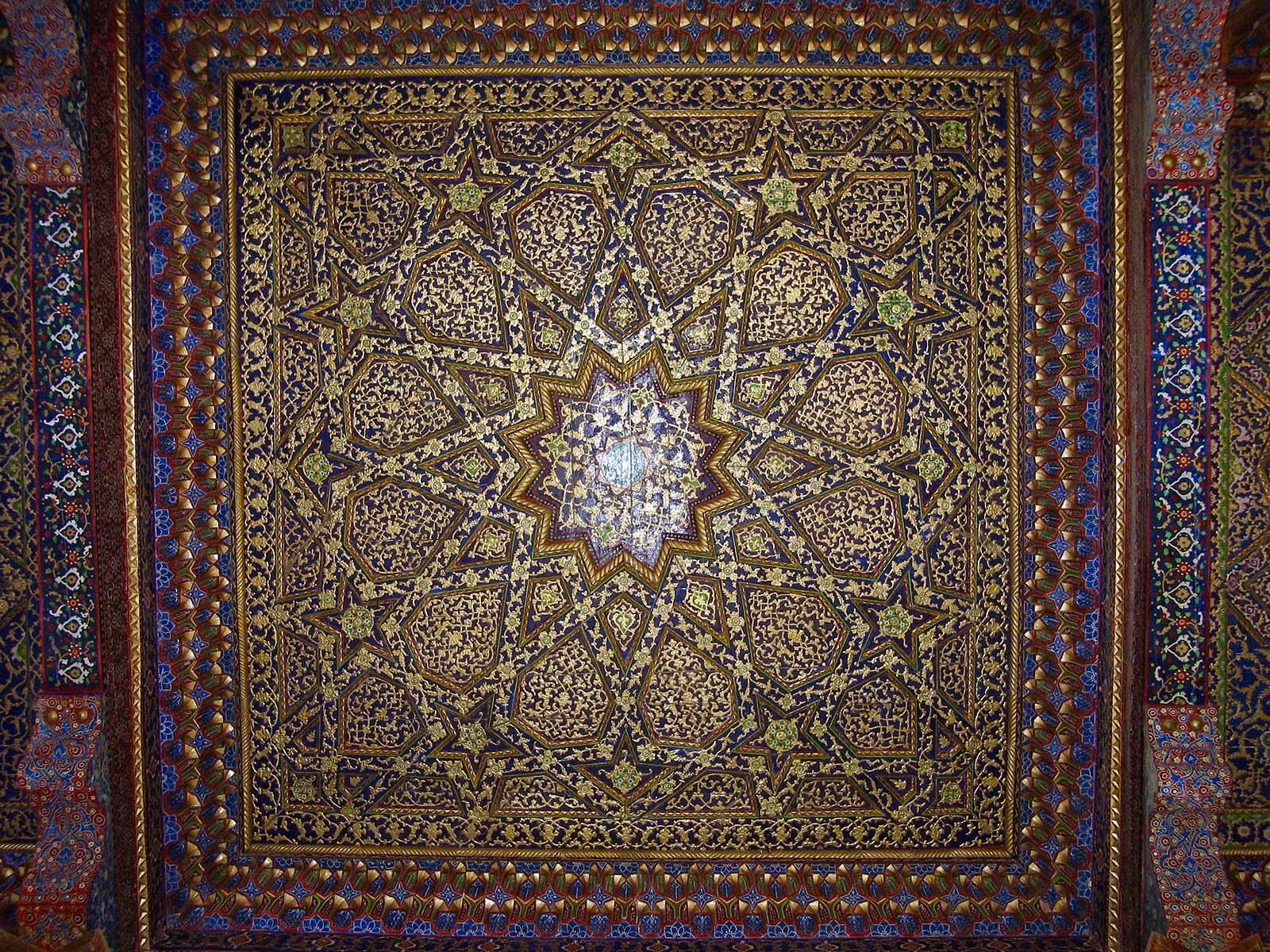 Boukhara plafond porche Iwan