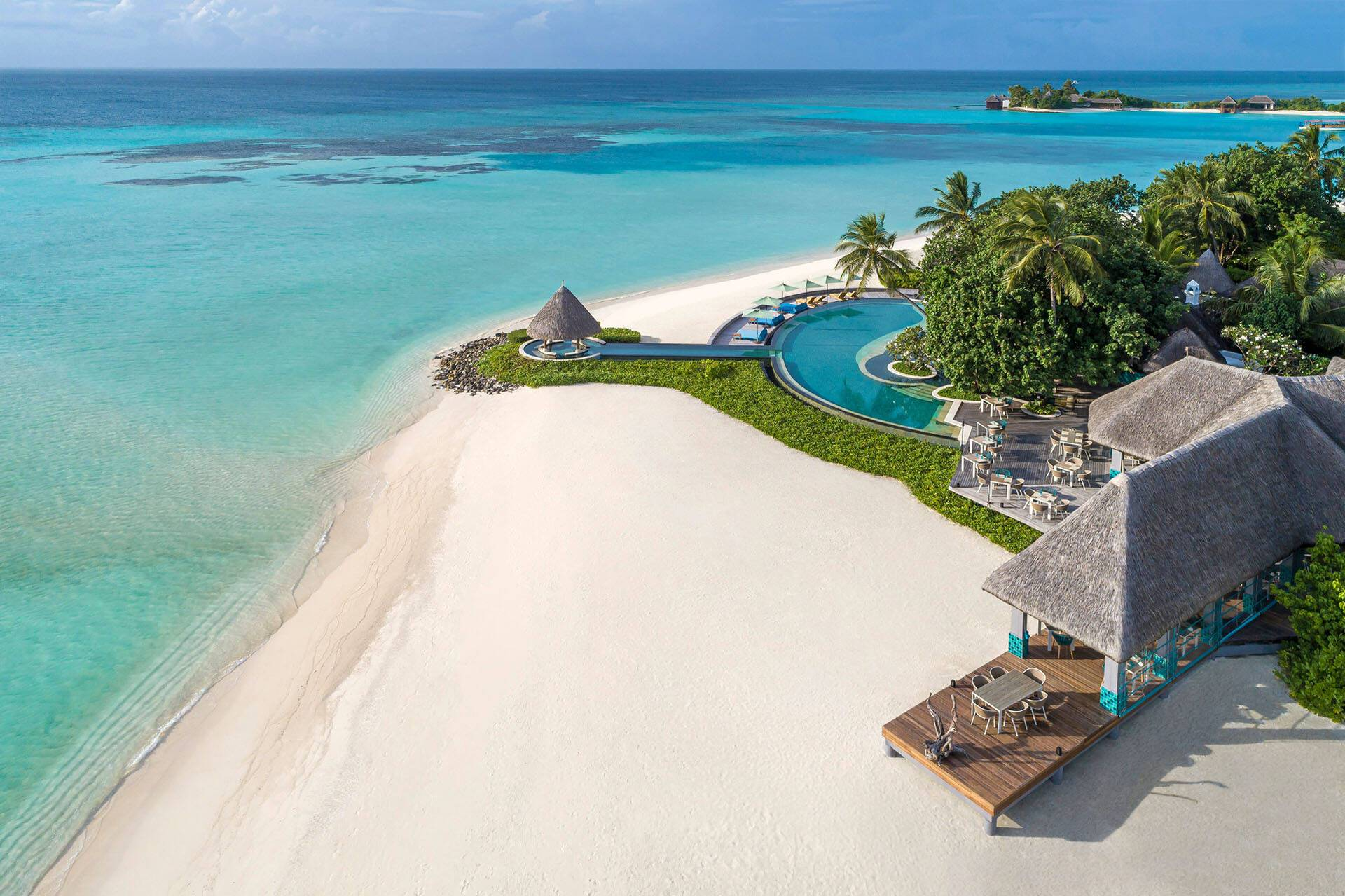 Four Seasons Kuda Huraa Maldives Plage