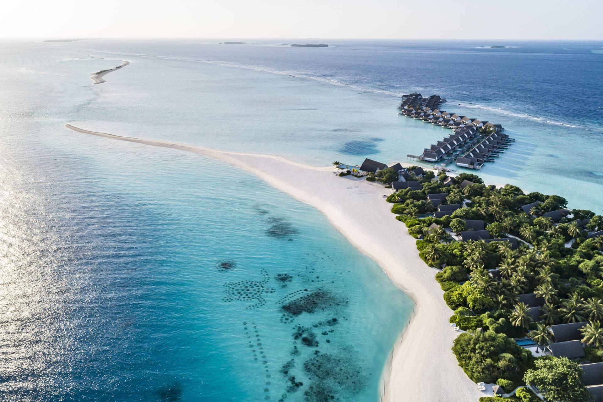 Four Seasons Landaa Giraavaru Maldives Vue Aerienne
