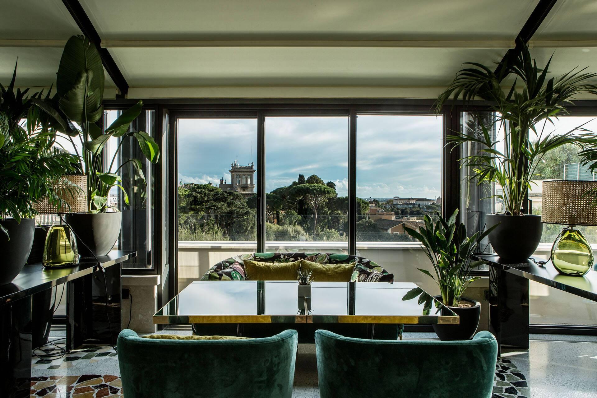 Sofitel Villa Borghese Rome Settimo Restaurant Vue