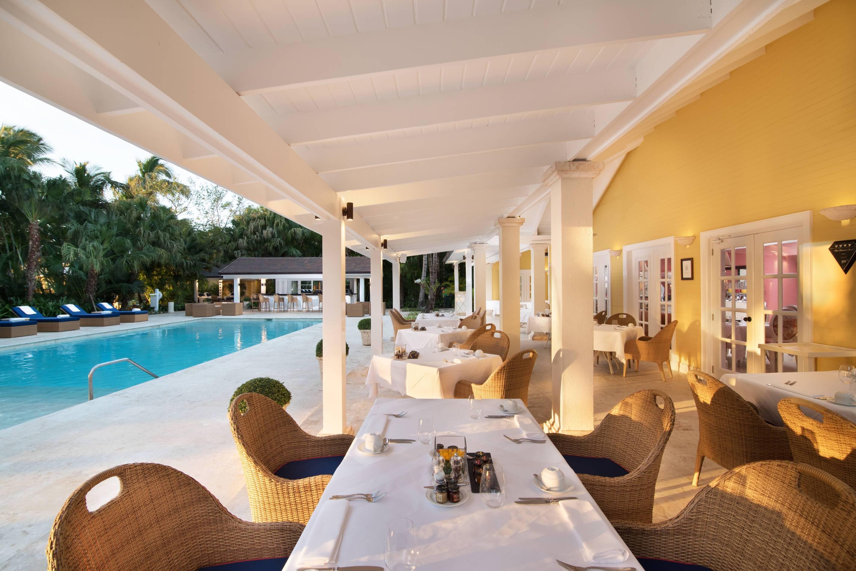 Tortuga Bay Bamboo Restaurant Pool Punta Cana