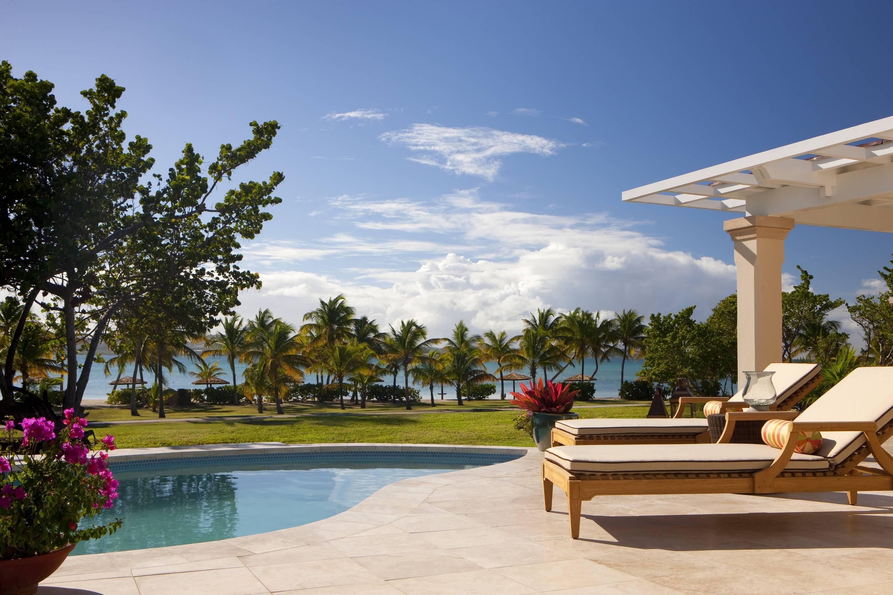 Jumby Bay Antigua et Barbuda pool suite piscine