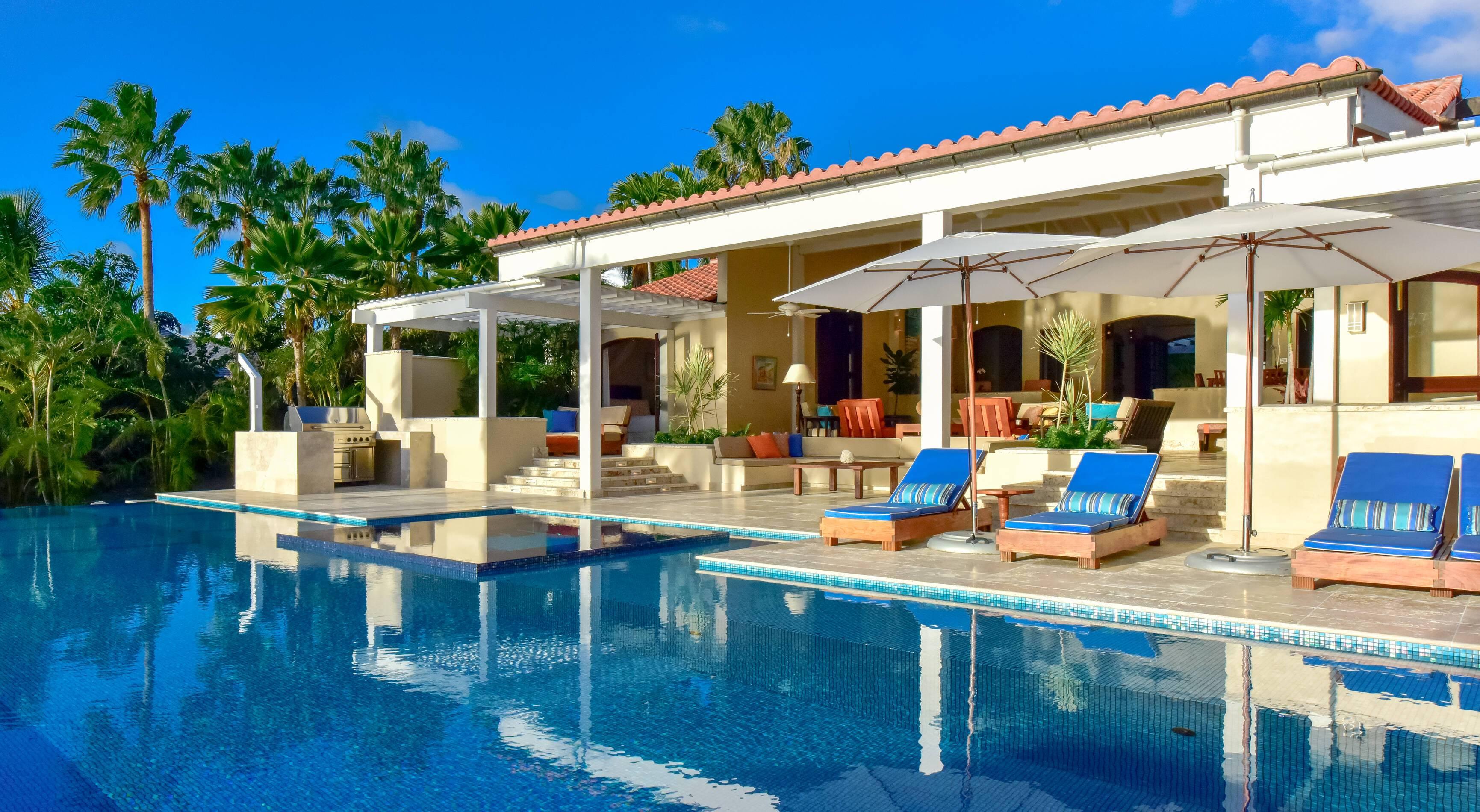 Jumby Bay Antigua et Barbuda villa blue belle