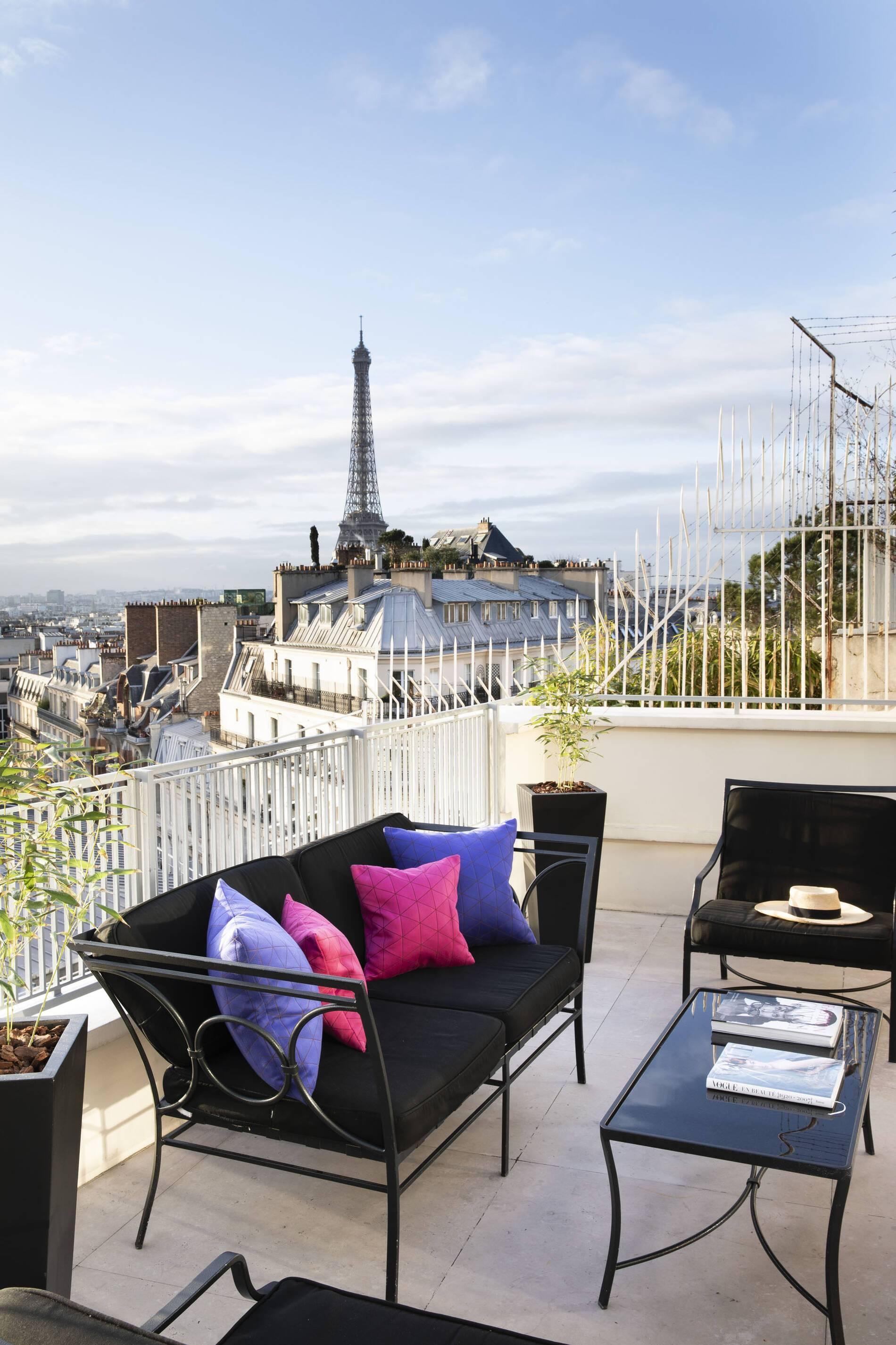 Hotel Sers Paris Chambre Eiffel Eiffel Suite Terrasse