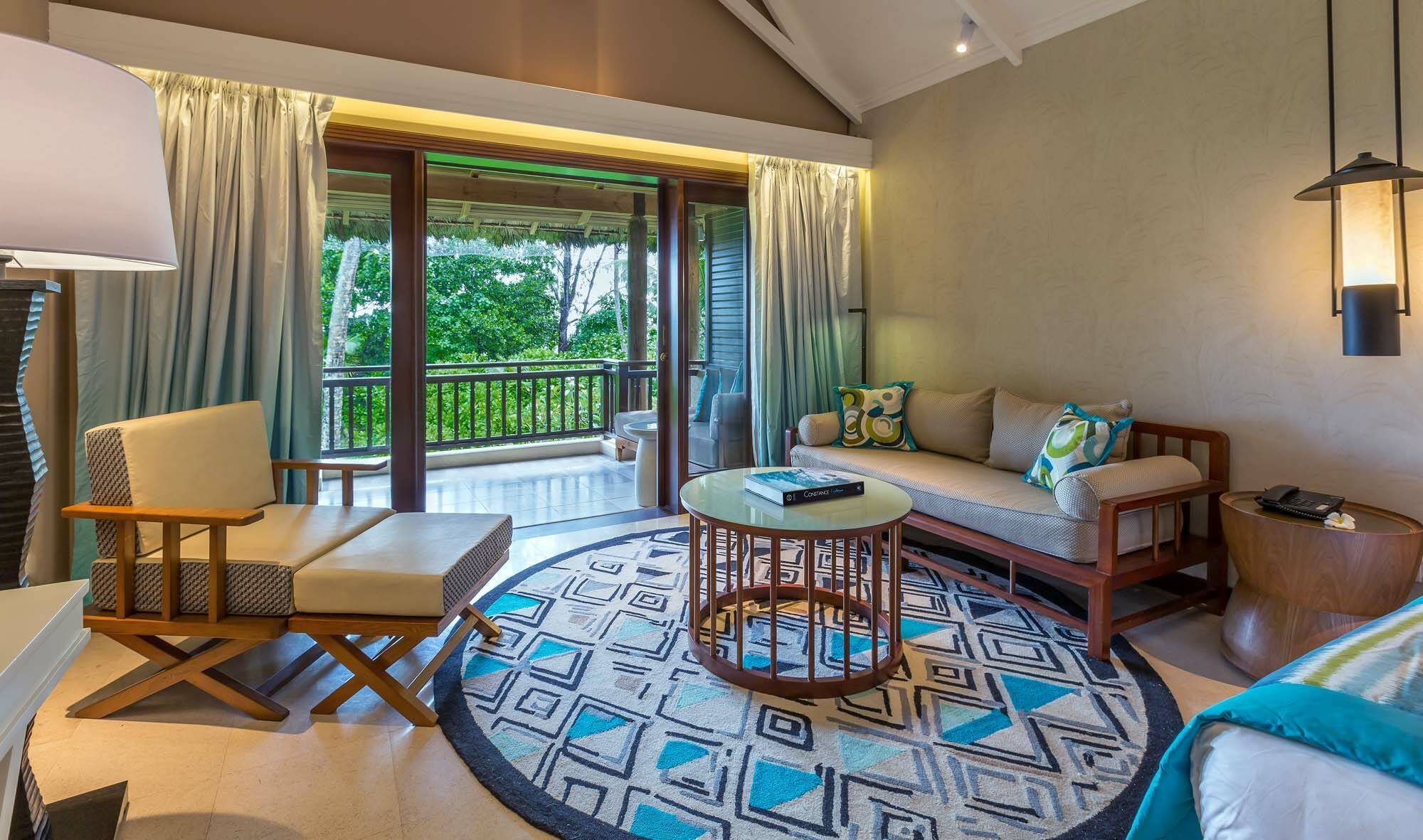Constance Lemuria Junior Suite Living Seychelles
