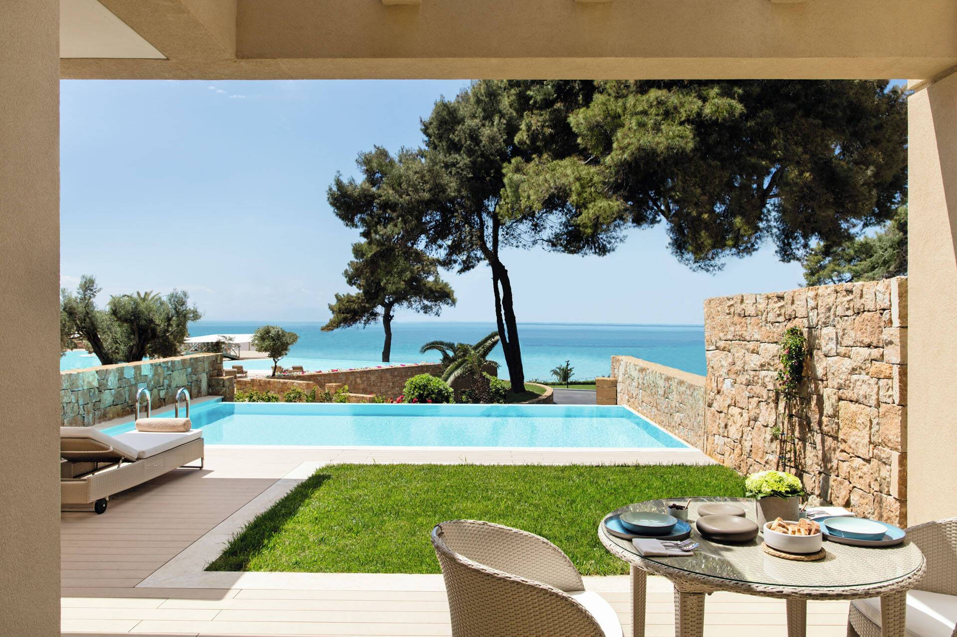 Sani Resort Thessalonique Grece One Bedroom Family Suite Private Garden