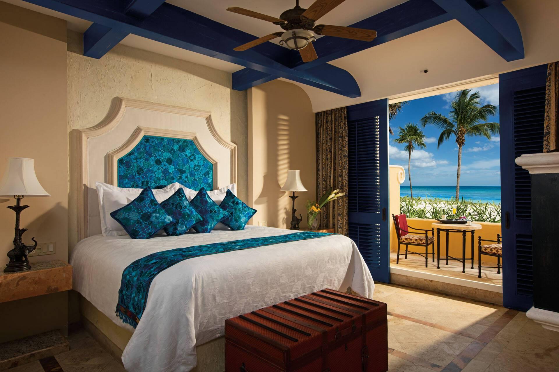 Zoetry Paraiso Riviera Maya Mexique romance ocean front chambre