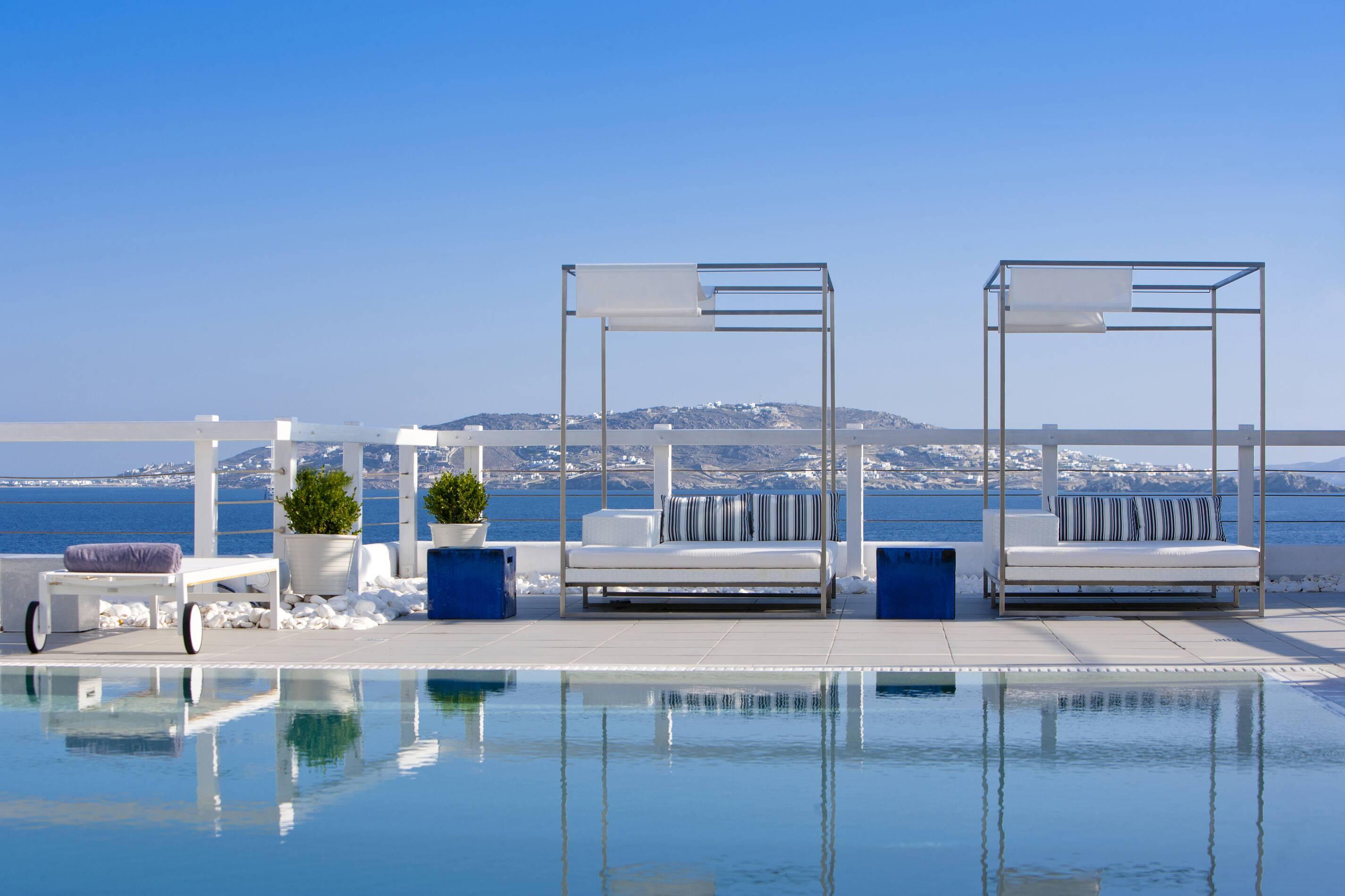 Grace Mykonos piscine vue mykonos