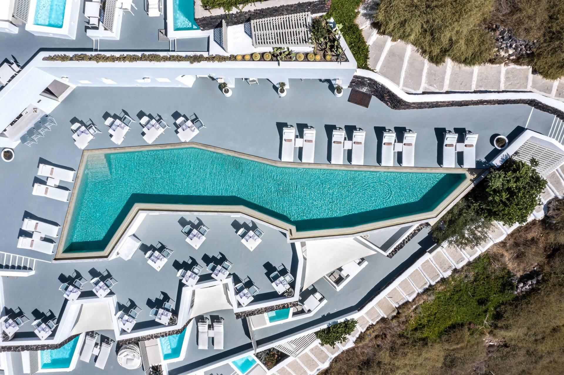 Grace Hotel Santorin Vue Drone