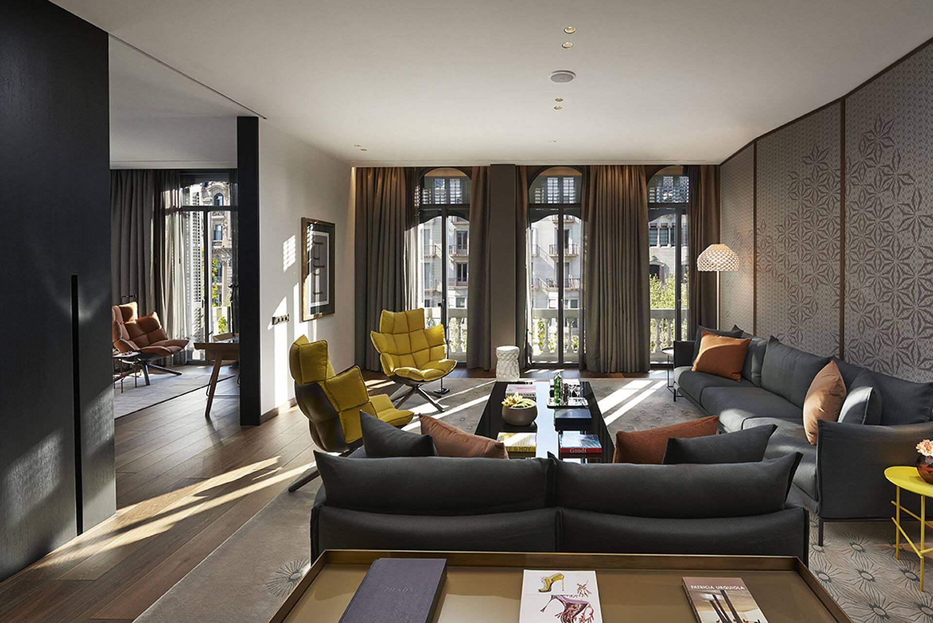 Mandarin Oriental Barcelona Premier Suite Living Room