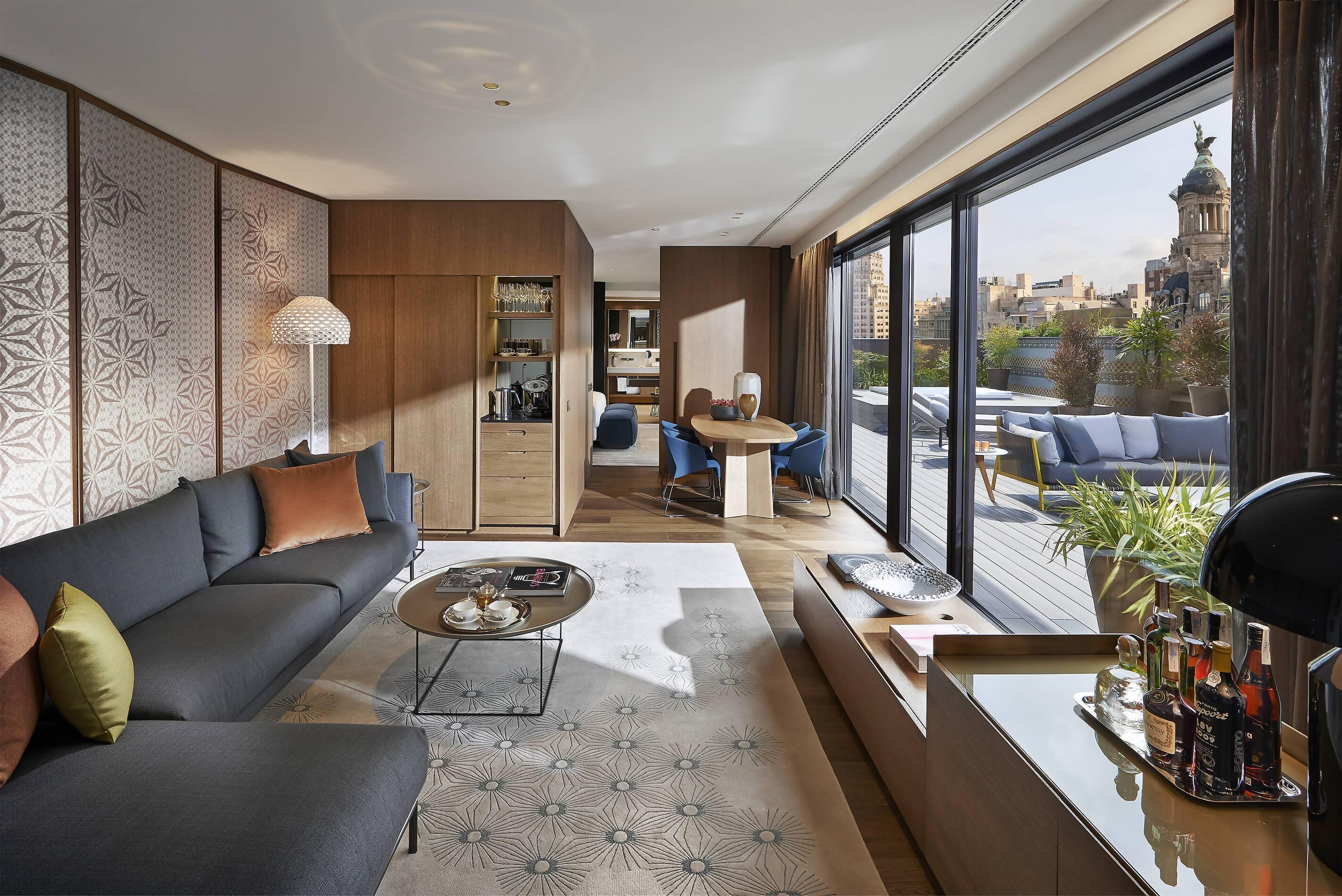 Mandarin Oriental Barcelona Suite Living Barcelone