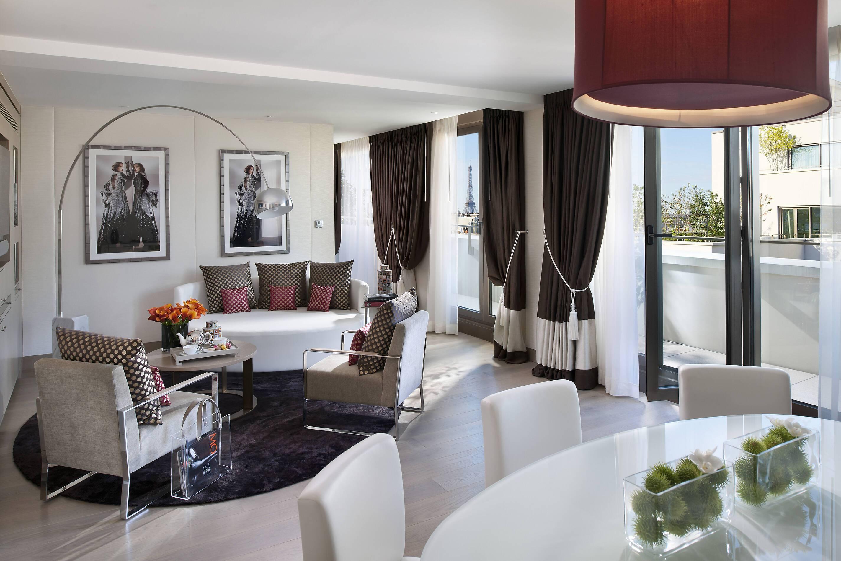 Mandarin Oriental Suite Panoramique Living Paris