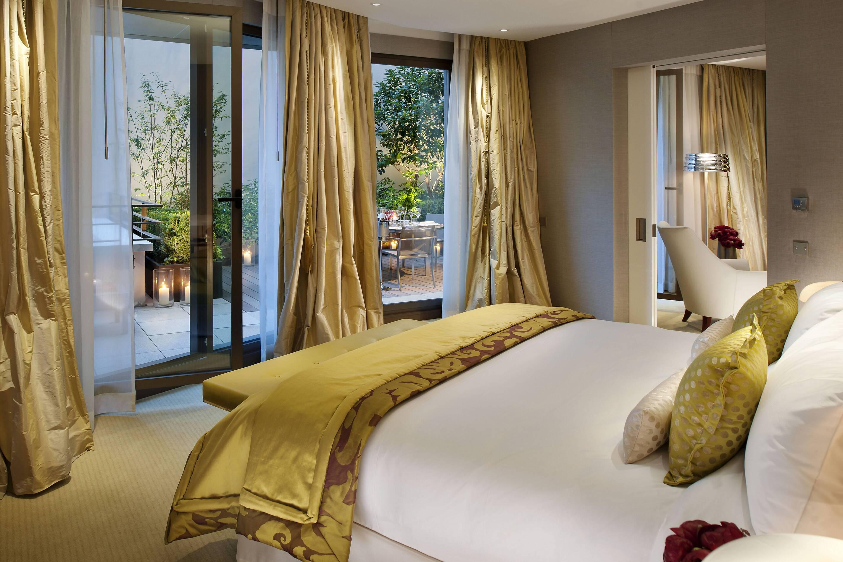 Mandarin Oriental Suite Terrace Chambre Paris