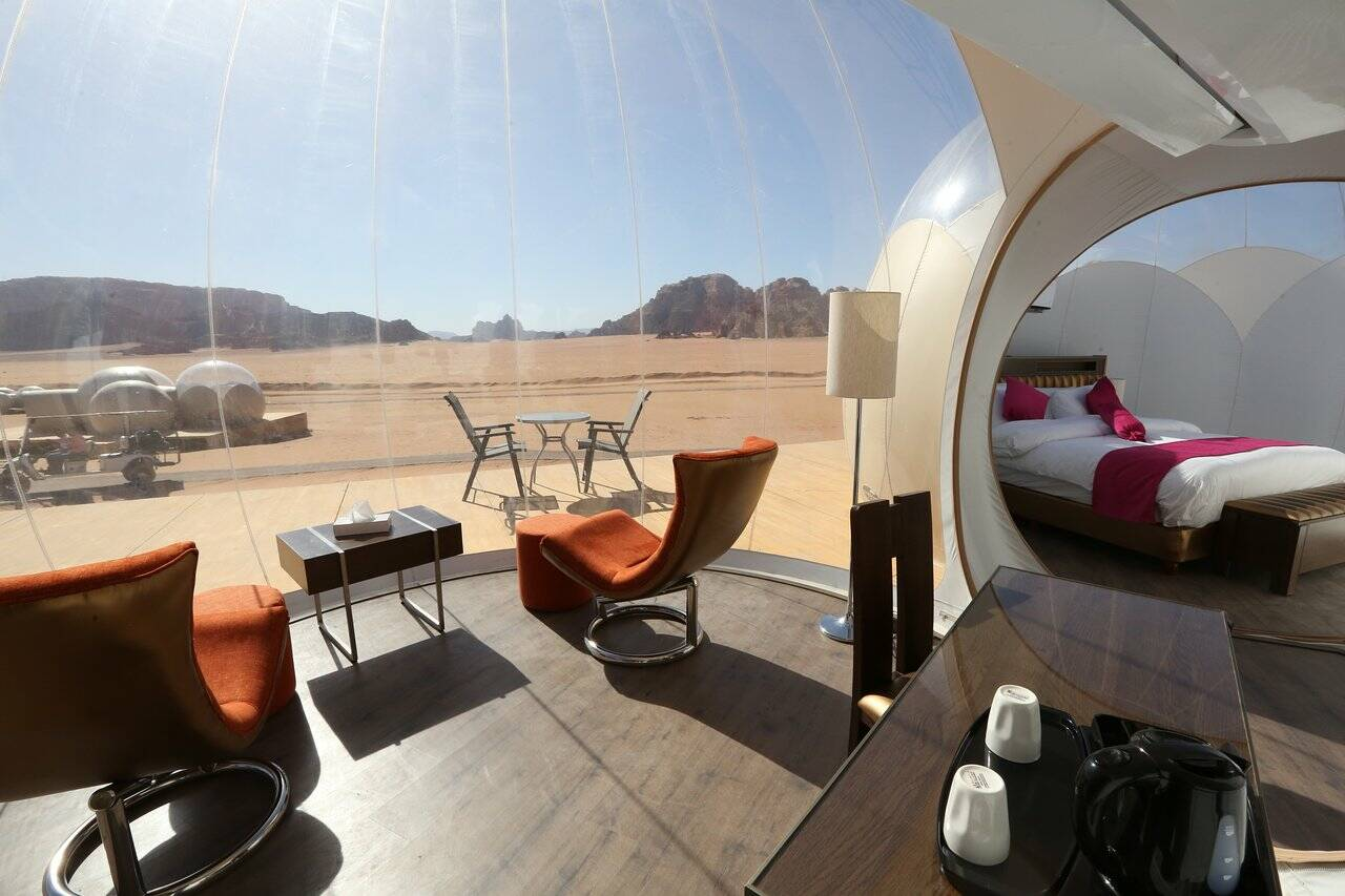 Jordanie UFO bubble luxotel wadi rum