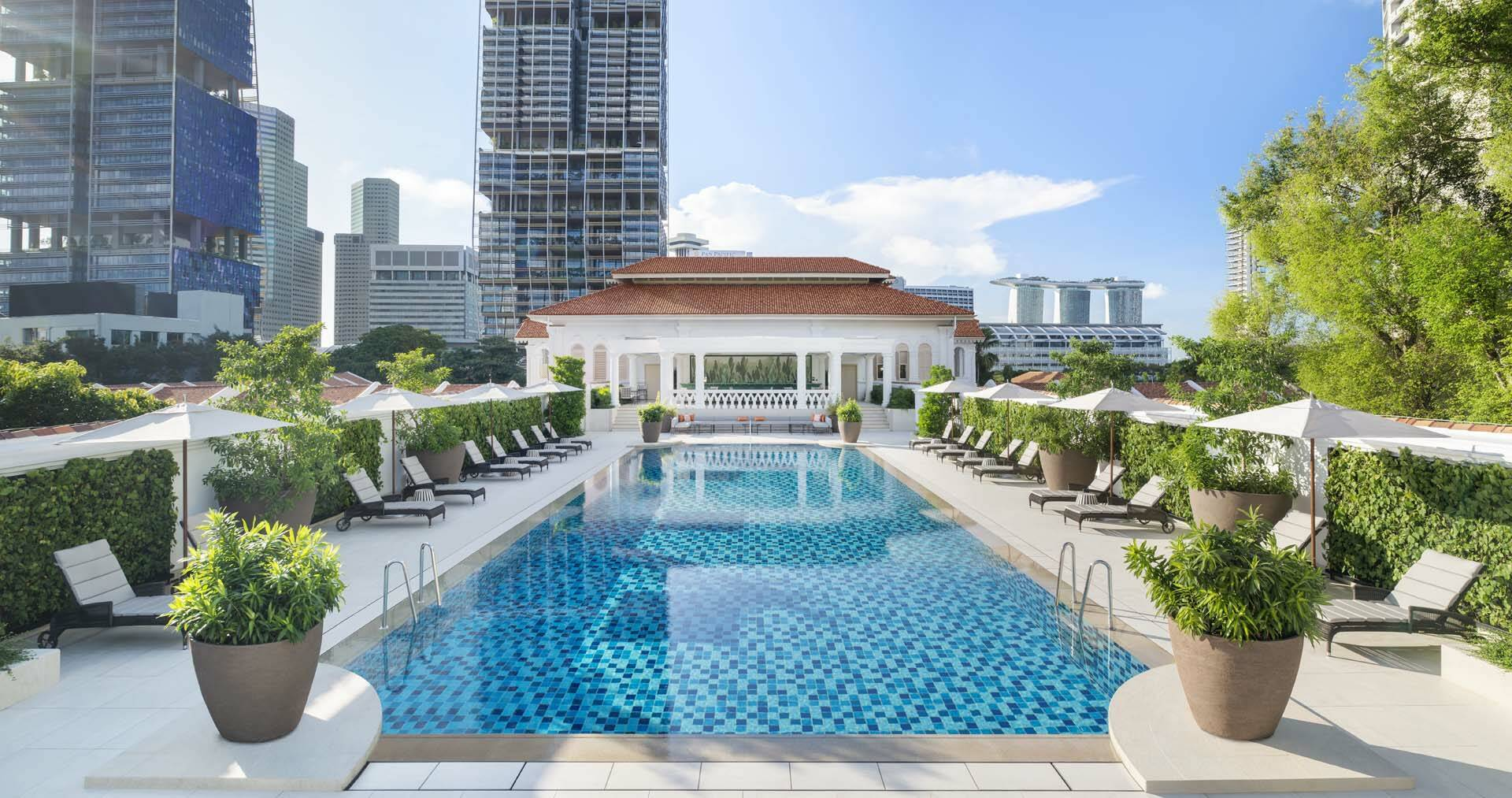 Raffles Singapour SwimmingPool