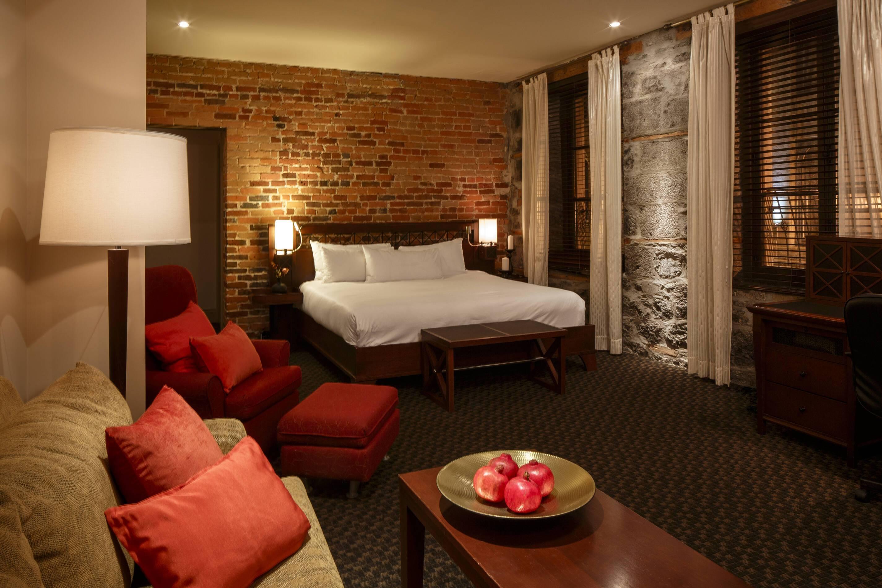 Montreal Quebec Canada Hotel Nelligan Chambre