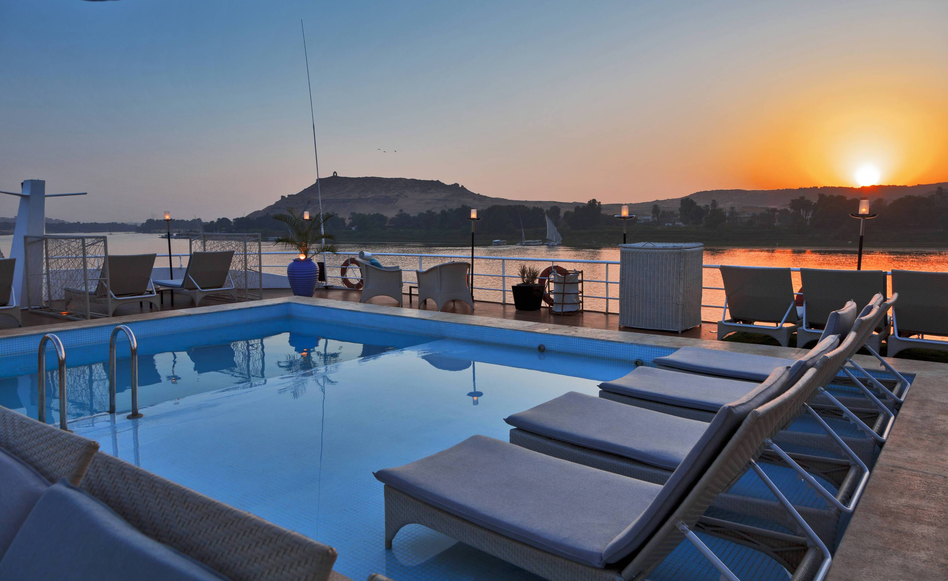 Croisiere Sun Boat IV piscine Circuit Egypte Sanctuary Retreats