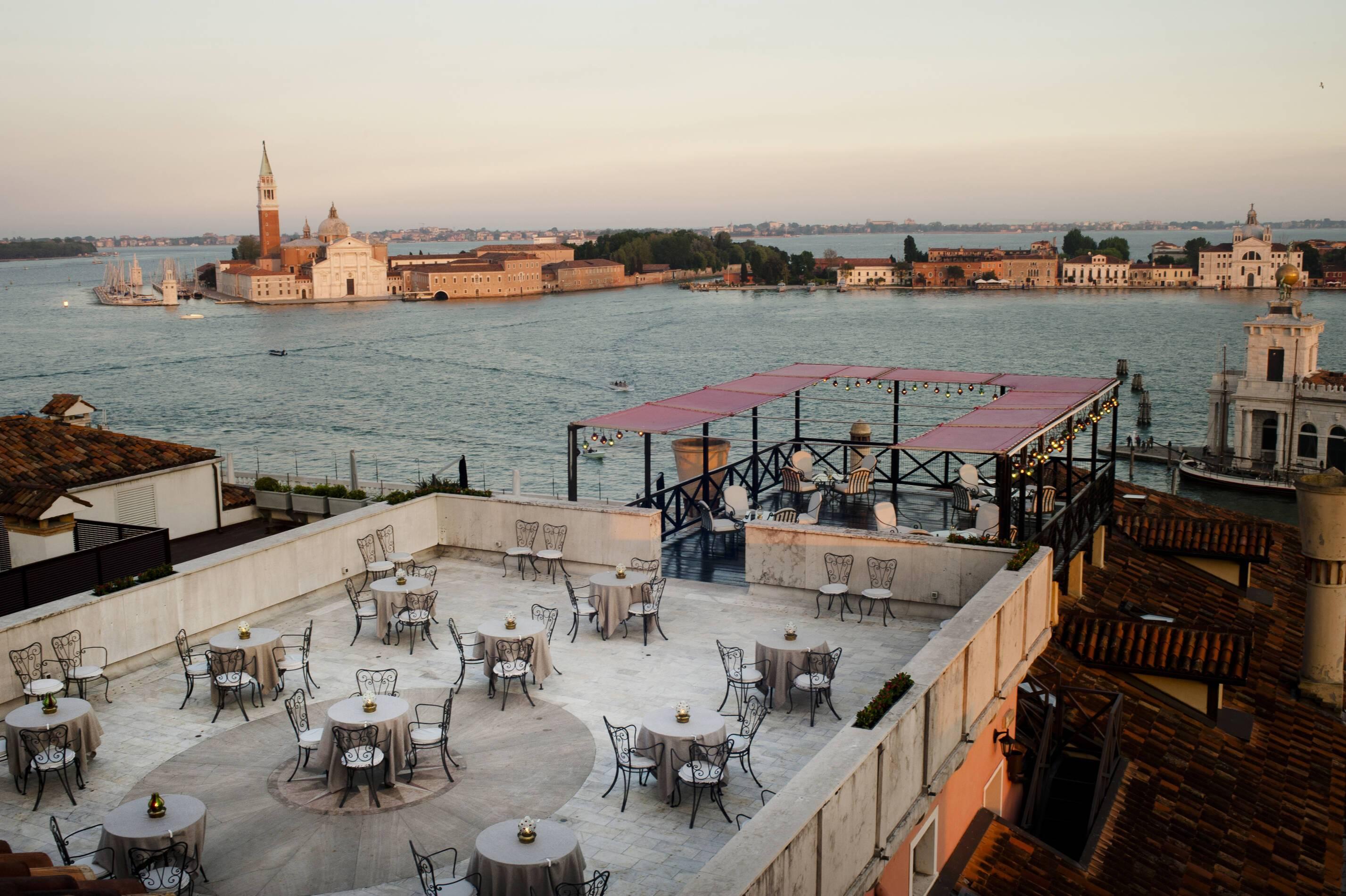 Bauer Palazzo Restaurant Terrasse Vue Mer Venise Italie