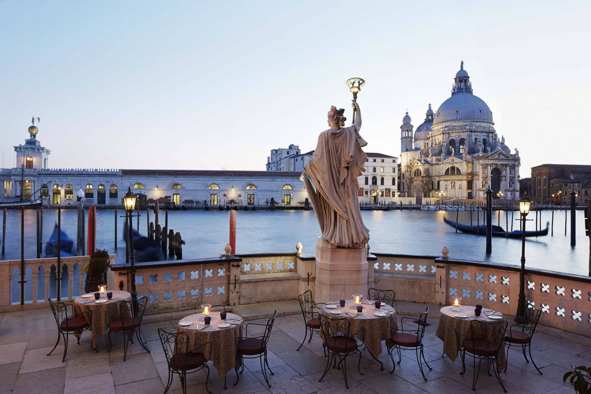 Bauer Palazzo Venise Italie Canale terrace