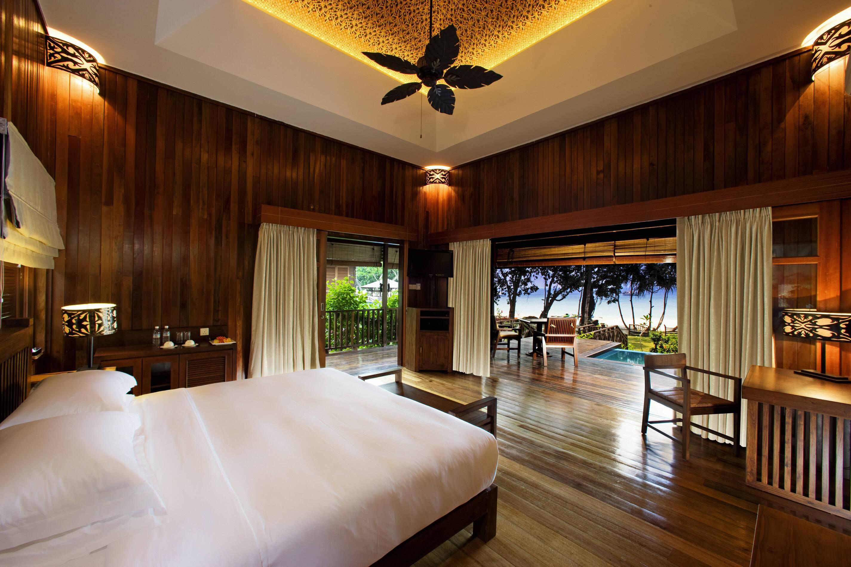 Bunga Raya Malaisie plunge pool villa chambre