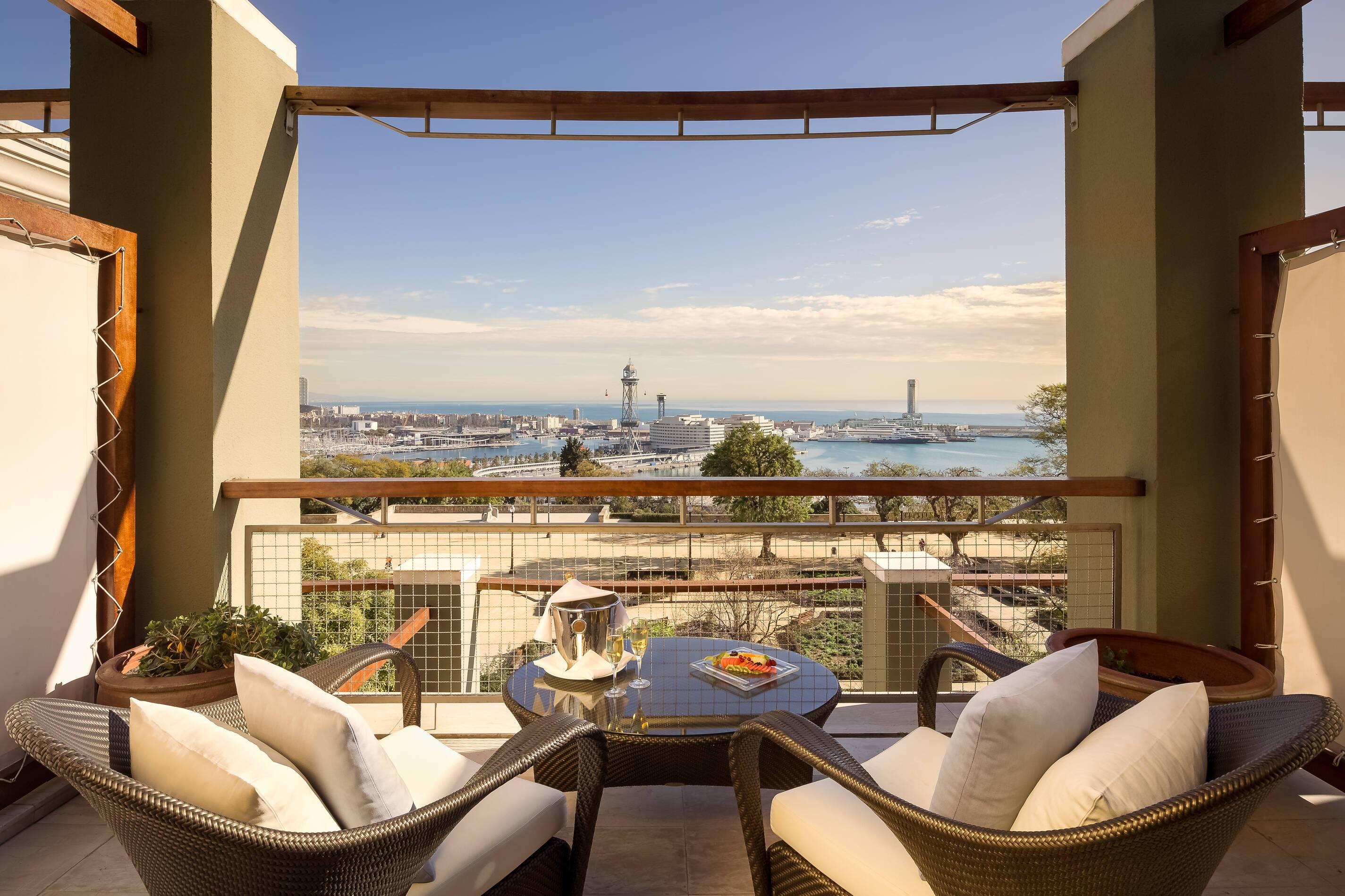 Miramar Barcelone suite mediteranea terrasse