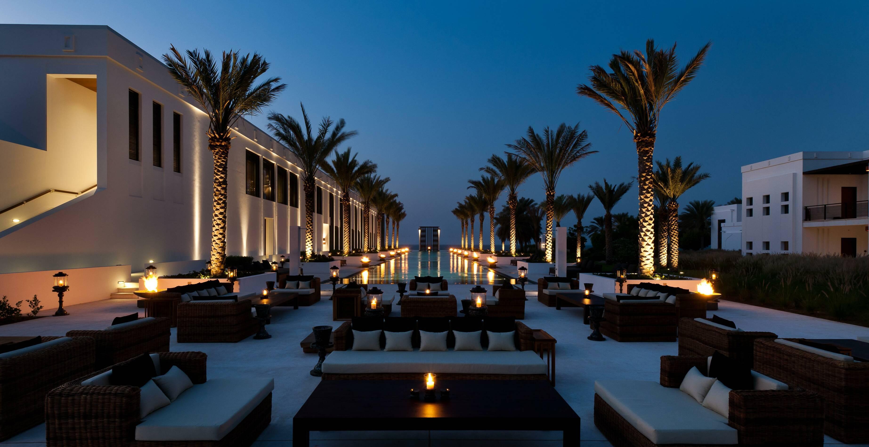 Chedi Muscat Oman Piscine Nuit