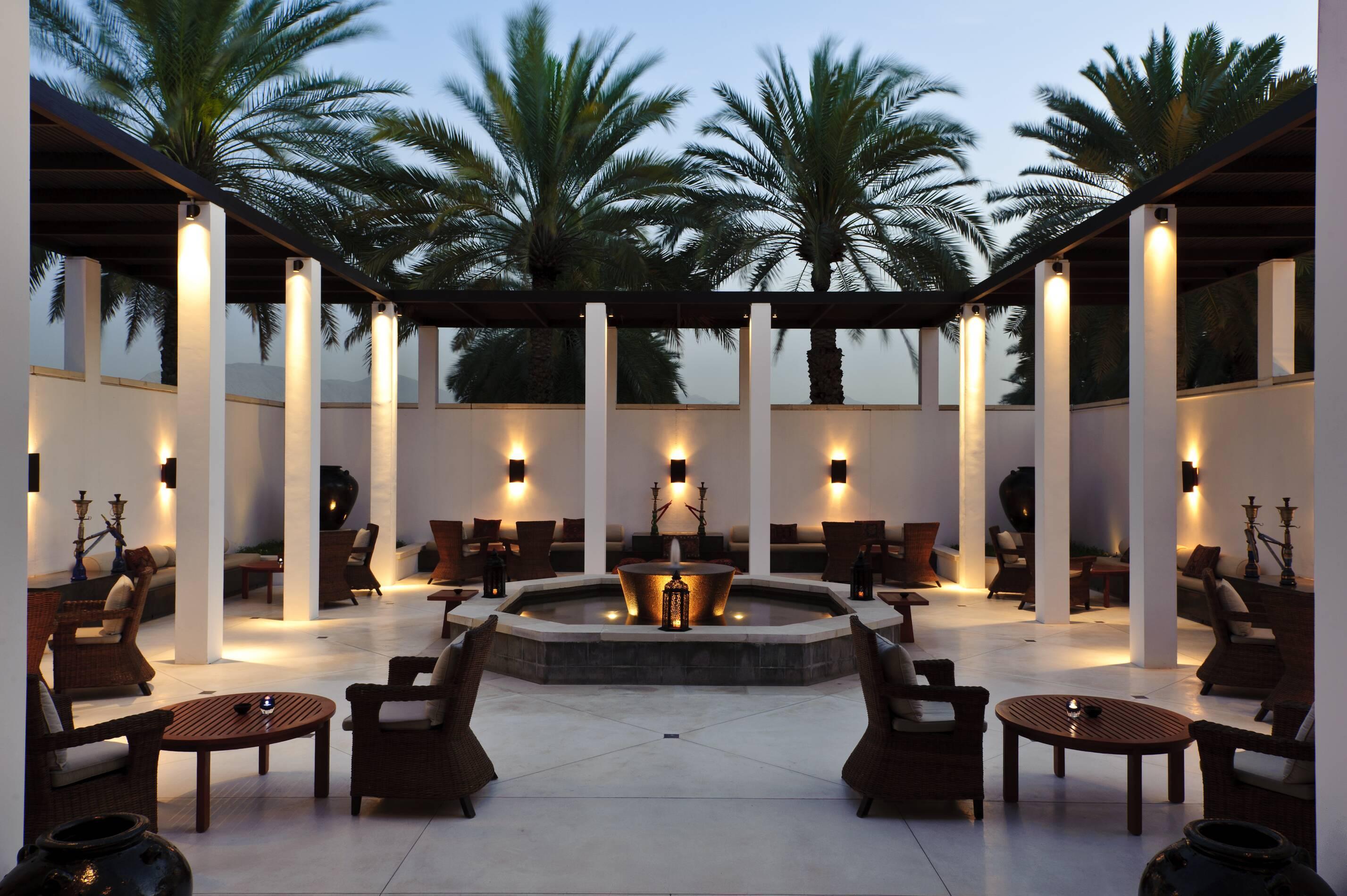 Chedi Muscat Oman courtyard