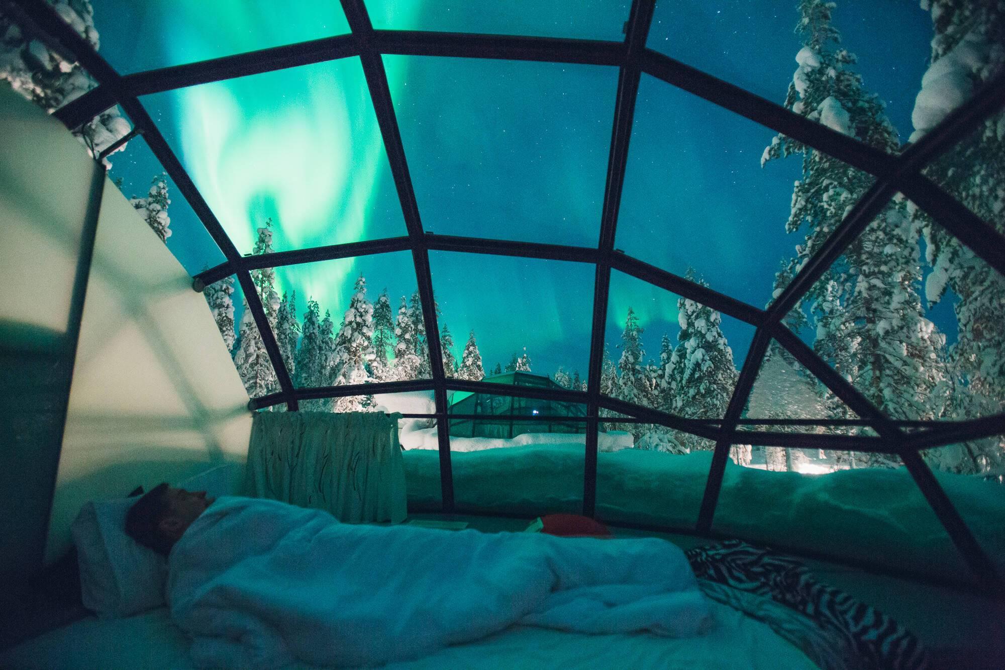 Kakslauttanen Aurore Boreale Interieur Laponie