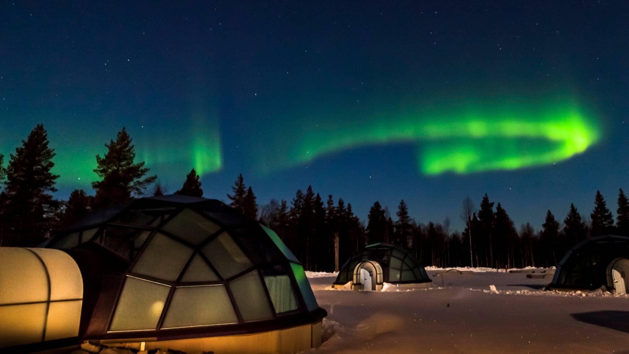Kakslauttanen Aurore Boreale Laponie