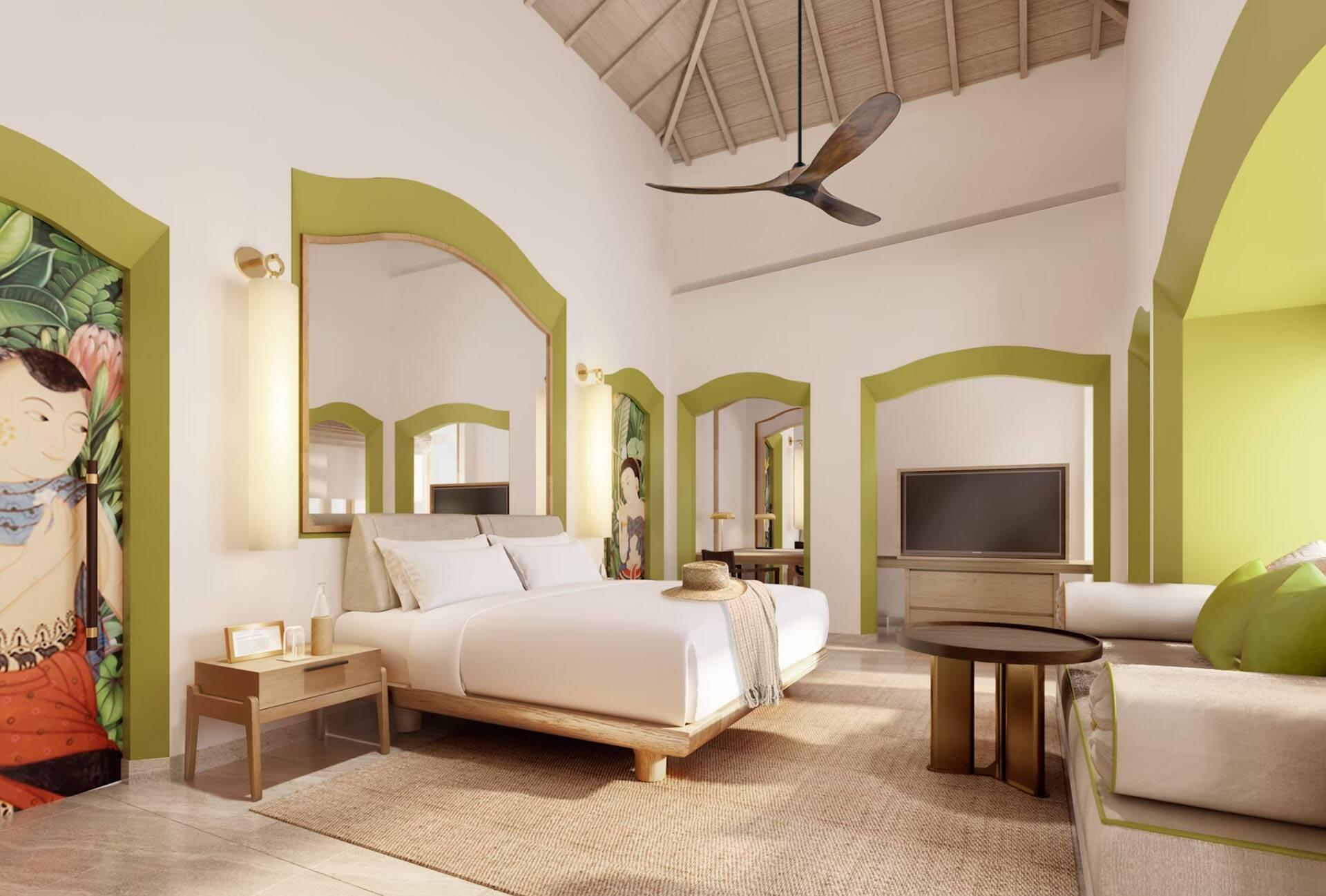 Phulay Bay Thailande Beach Villa Bedroom