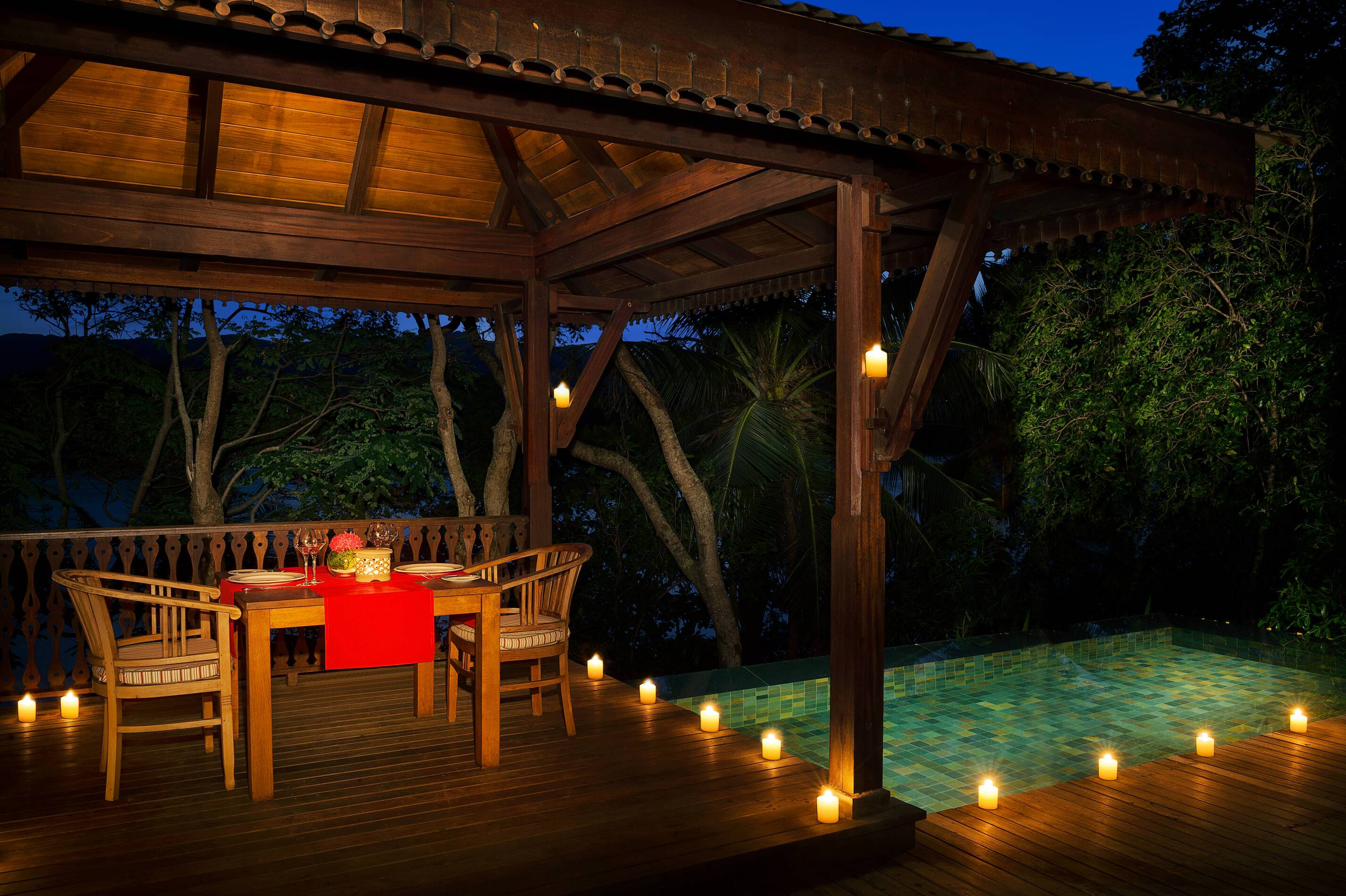 Enchanted Island Seychelles diner prive