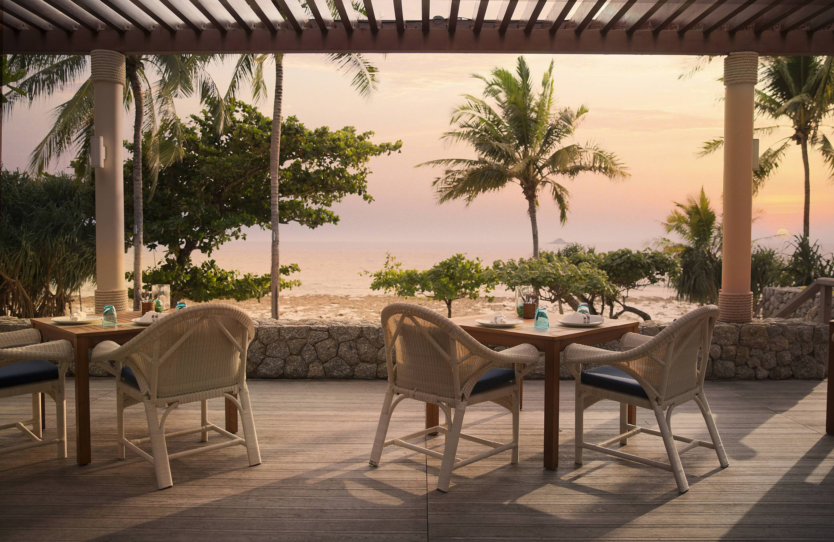 Trisara Thailande Restaurant Terrasse