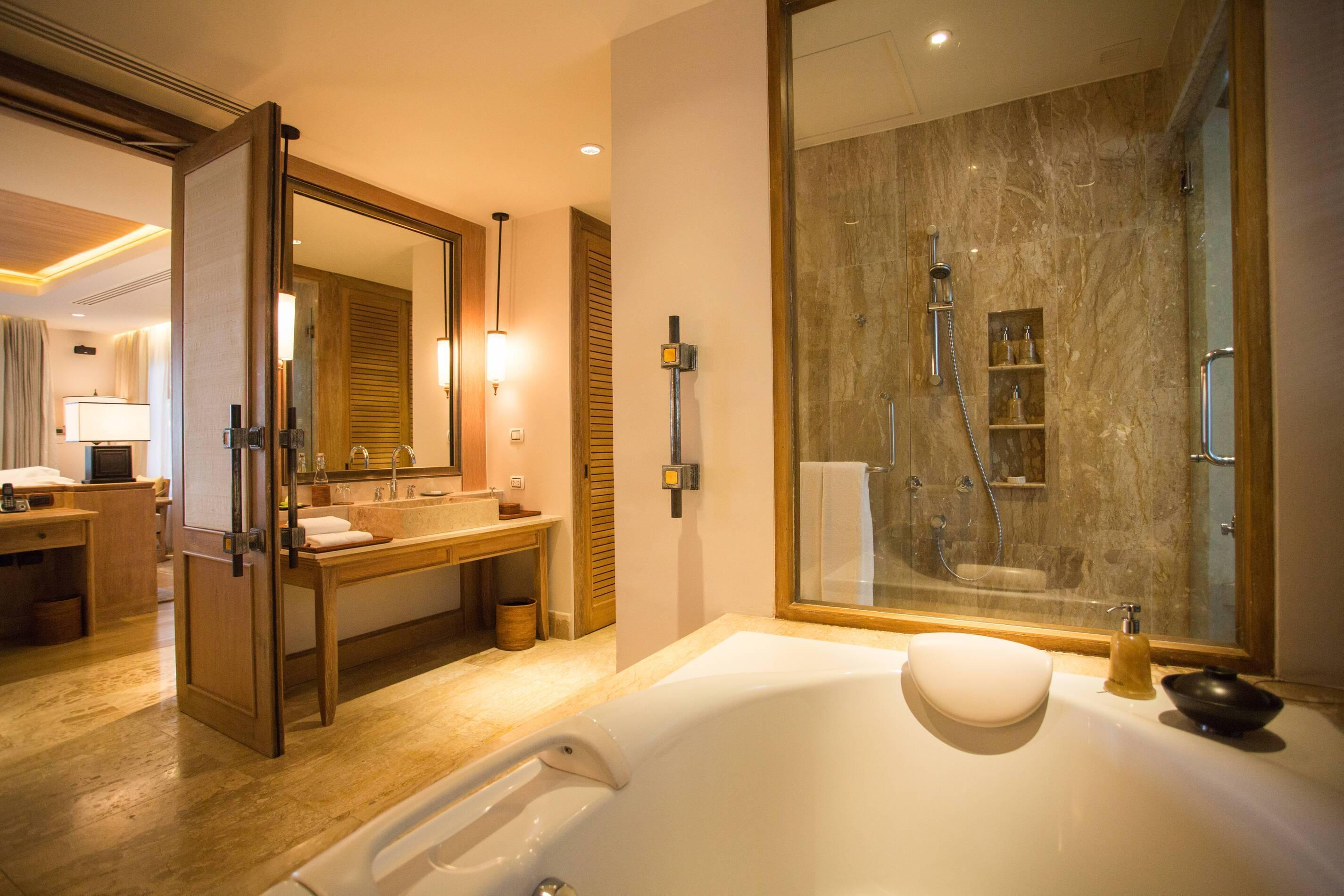 Trisara Thailande signature ocean view suite salle de bain