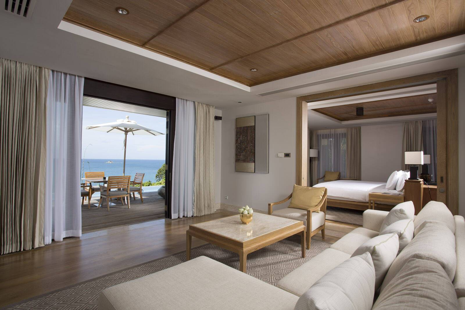Trisara Thailande signature ocean view suite salon