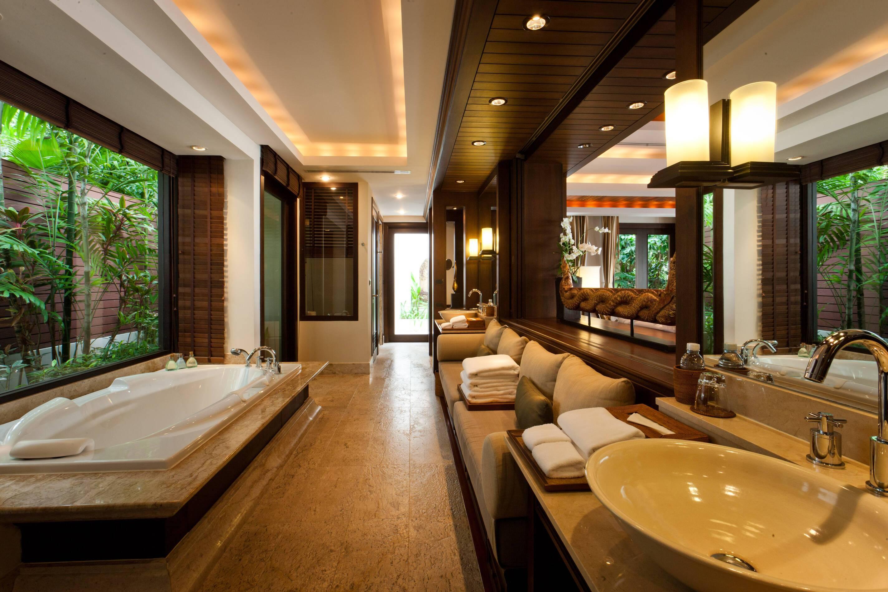 Trisara Thailande view villa salle de bain thailande