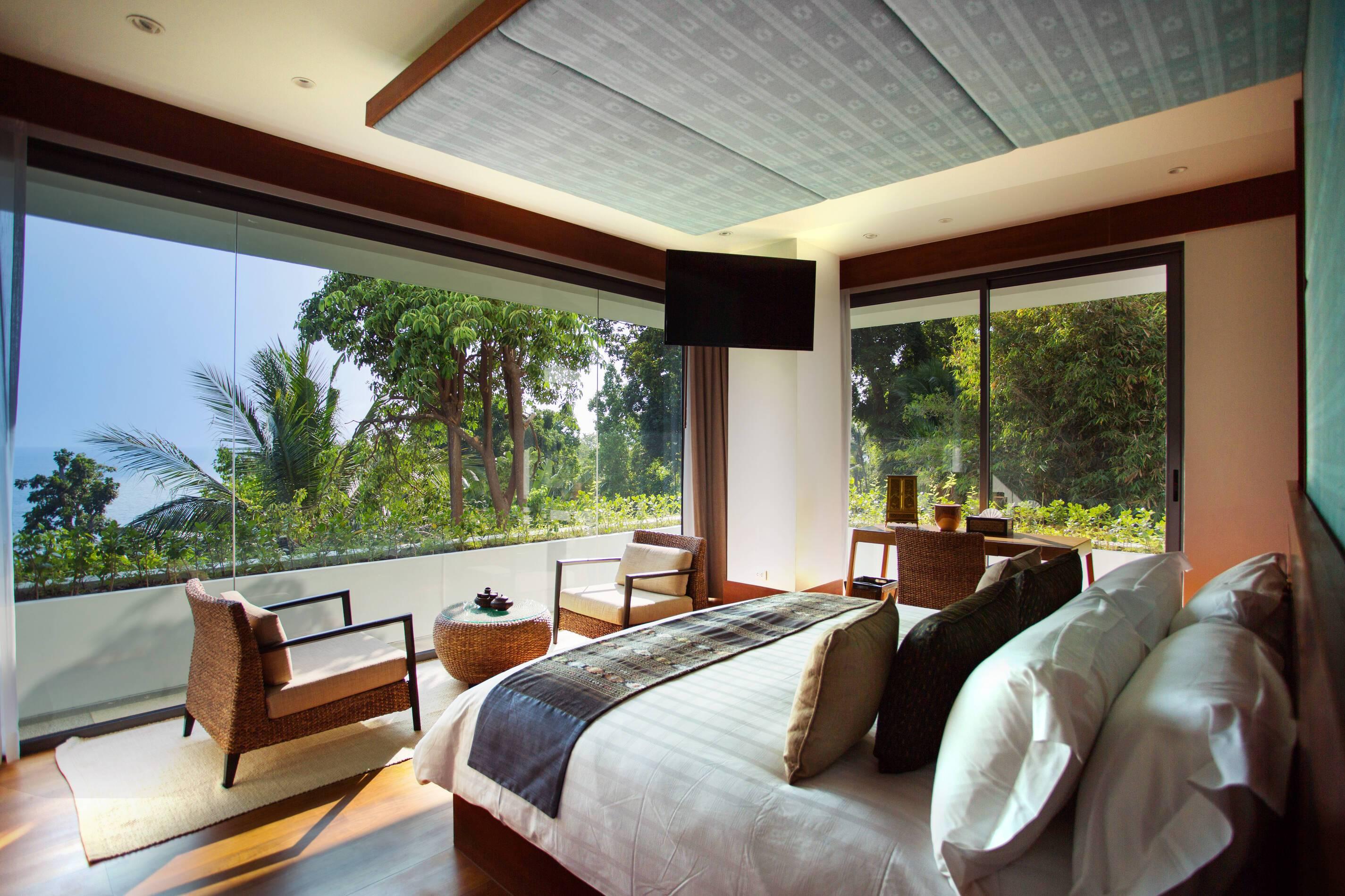 Trisara Thailande villa residentielle chambre