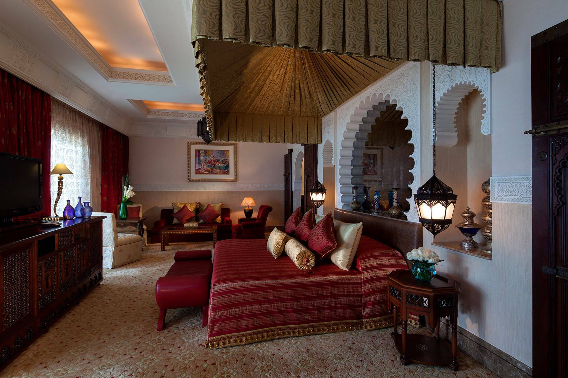 Jumeirah al Qasr Dubai one bedroom royal suite chambre