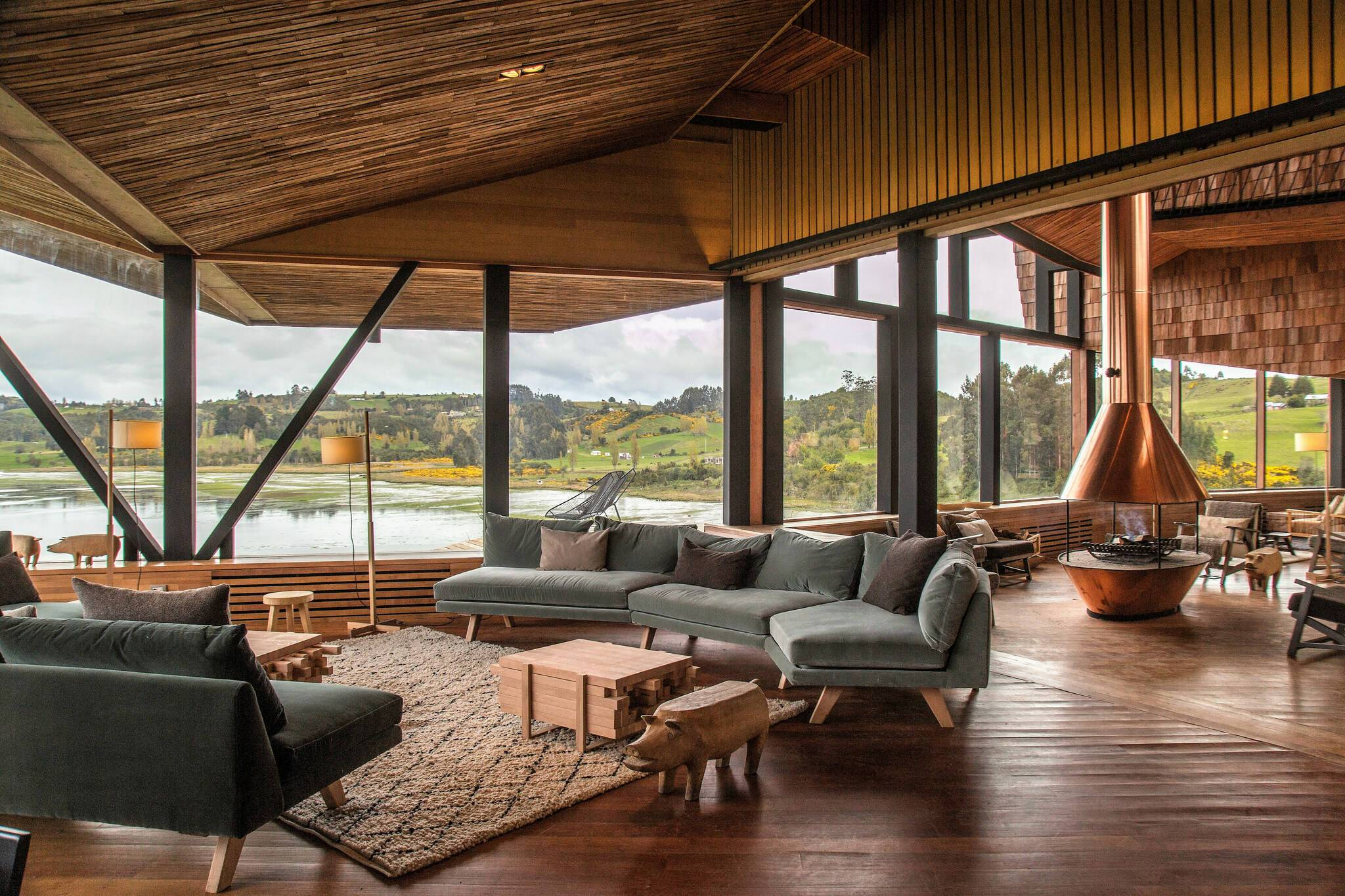 Tierra Chiloe Chili living room