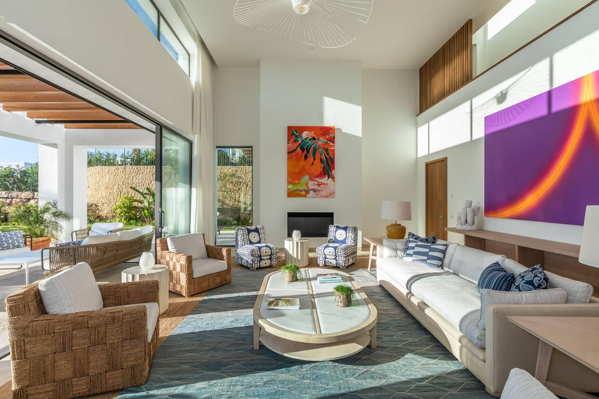 Finca Cortesin Marbella Villa Living Room