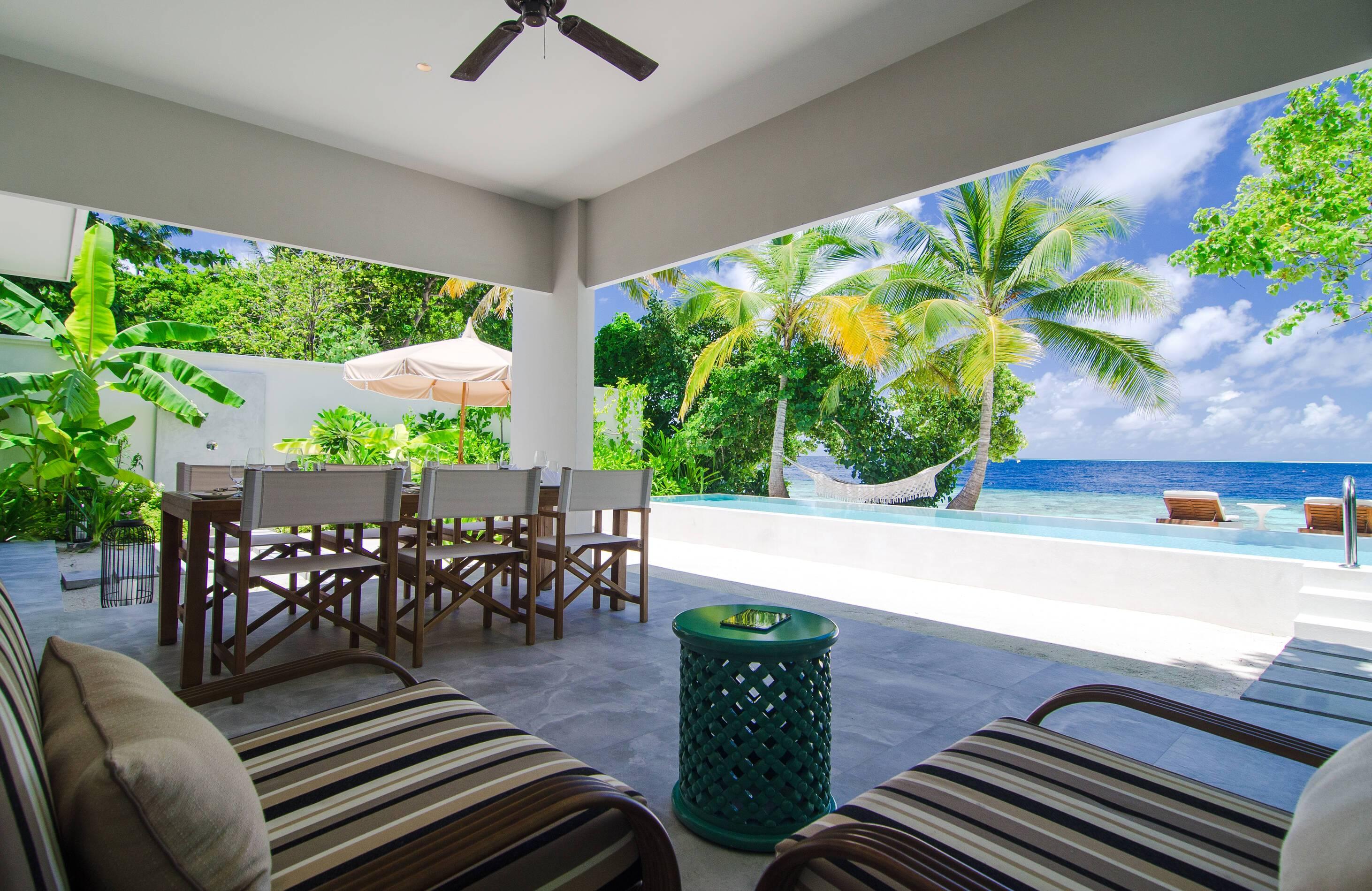 Amilla Maldives Resort Beach House Terrasse