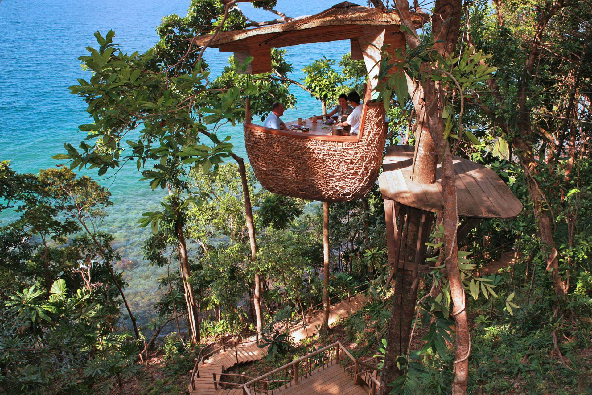 Soneva Kiri Thailande Treepod Dining