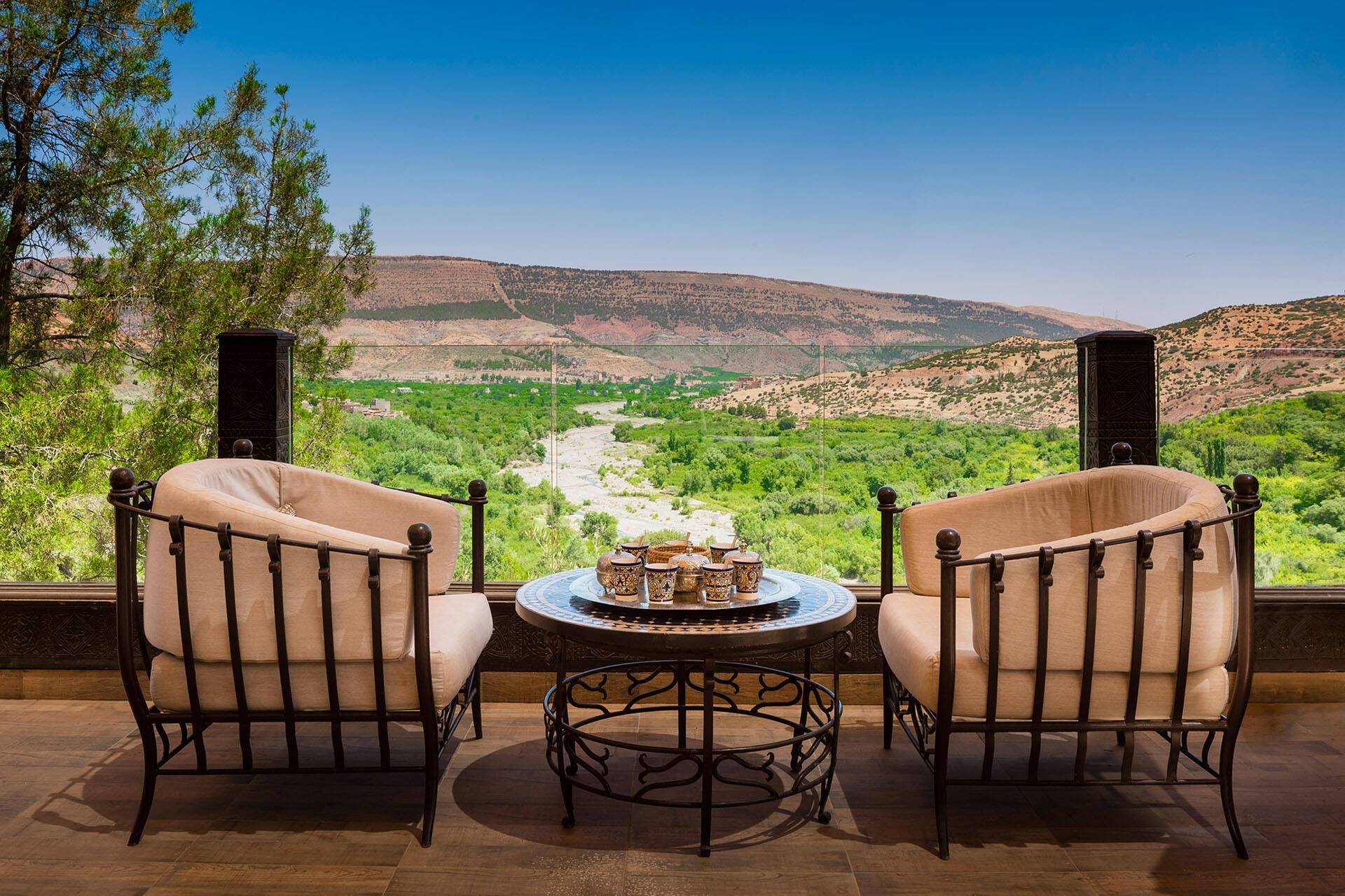 Kasbah Tamadot Maroc Lounge Terrasse