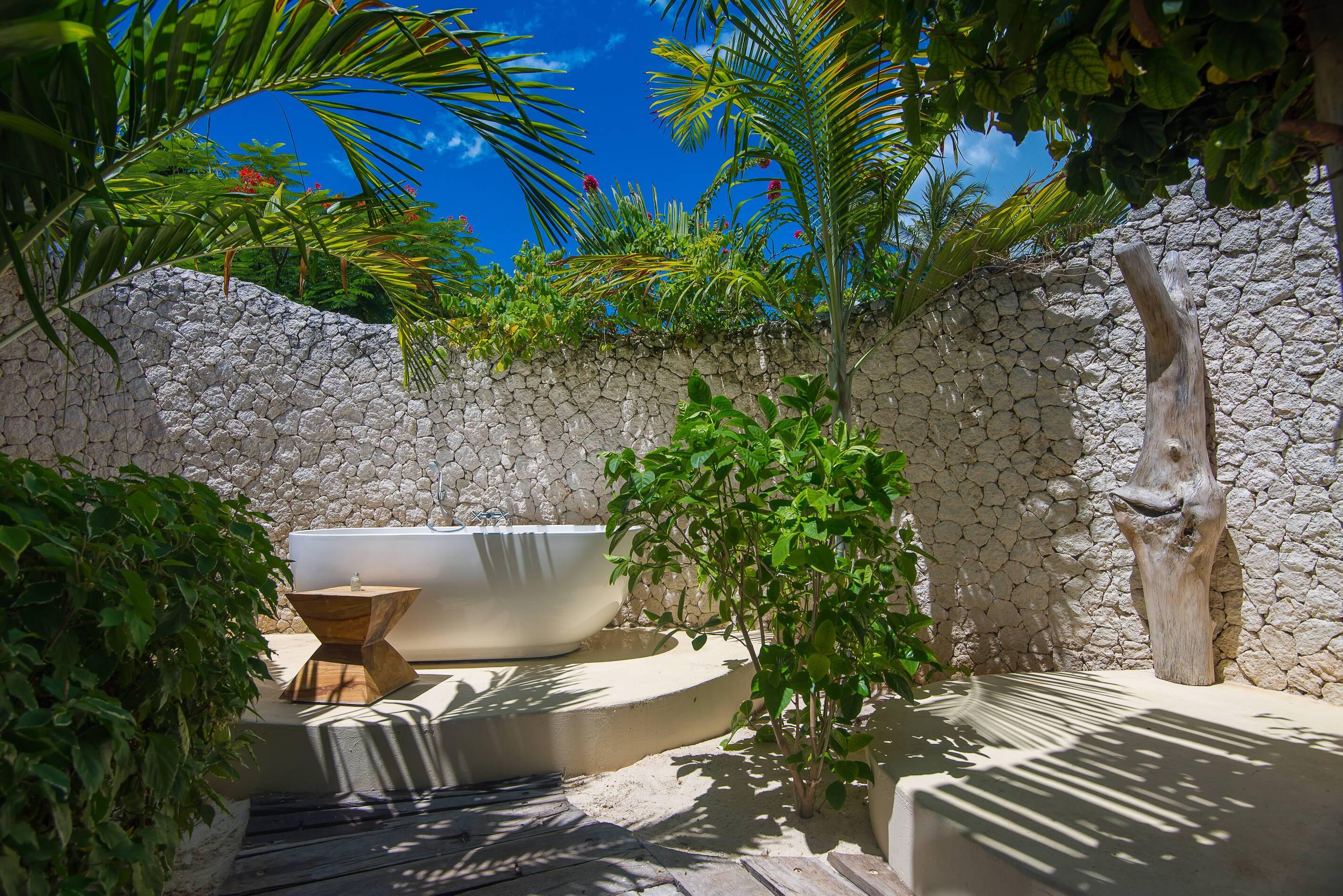 White Sand Zanzibar Salle Bains Exterieure