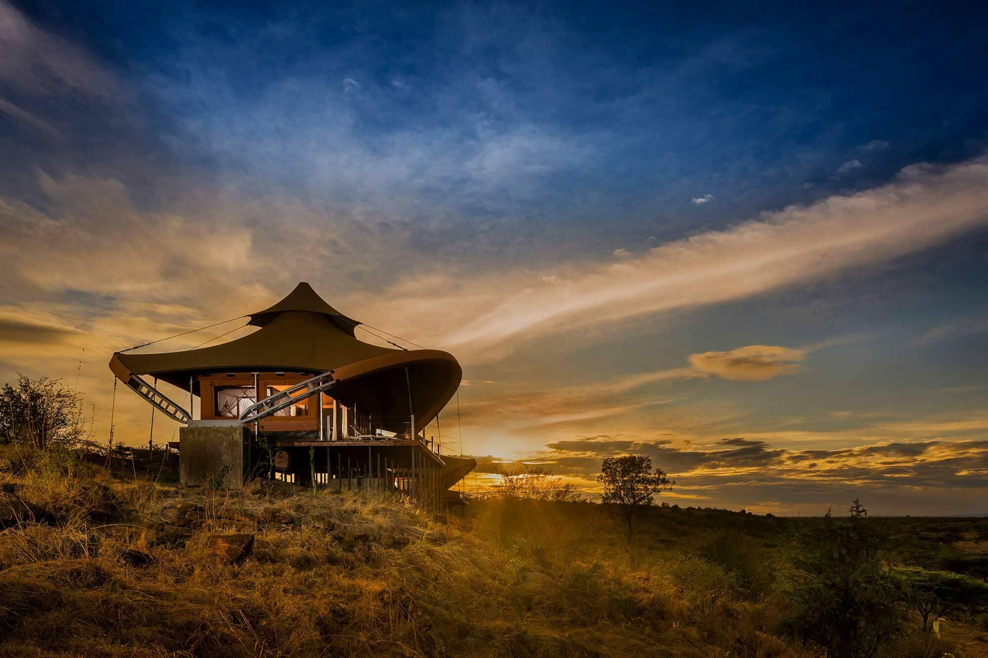 Mahali Mzuri Kenya Virgin Coucher Soleil