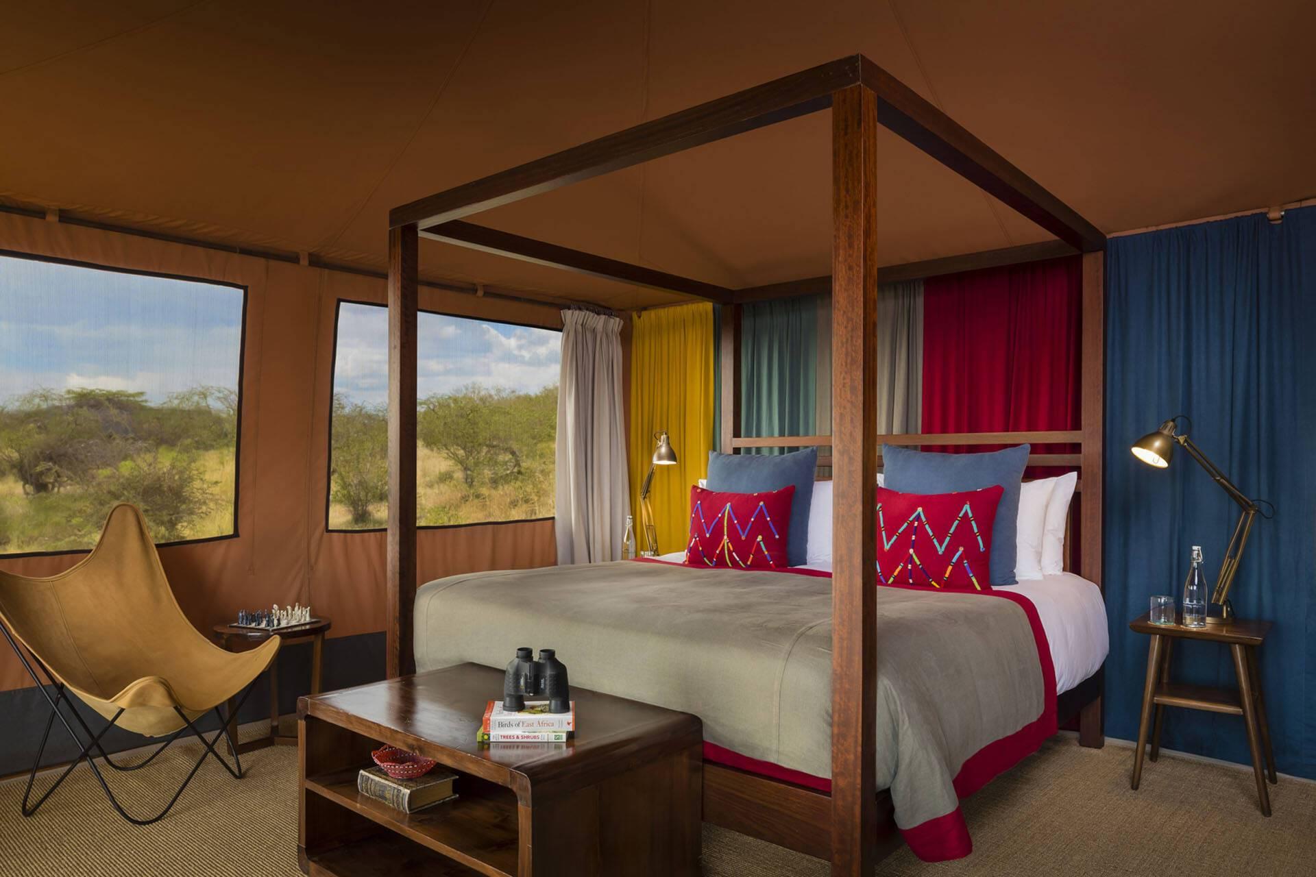 Mahali Mzuri Kenya Virgin family tent bedroom
